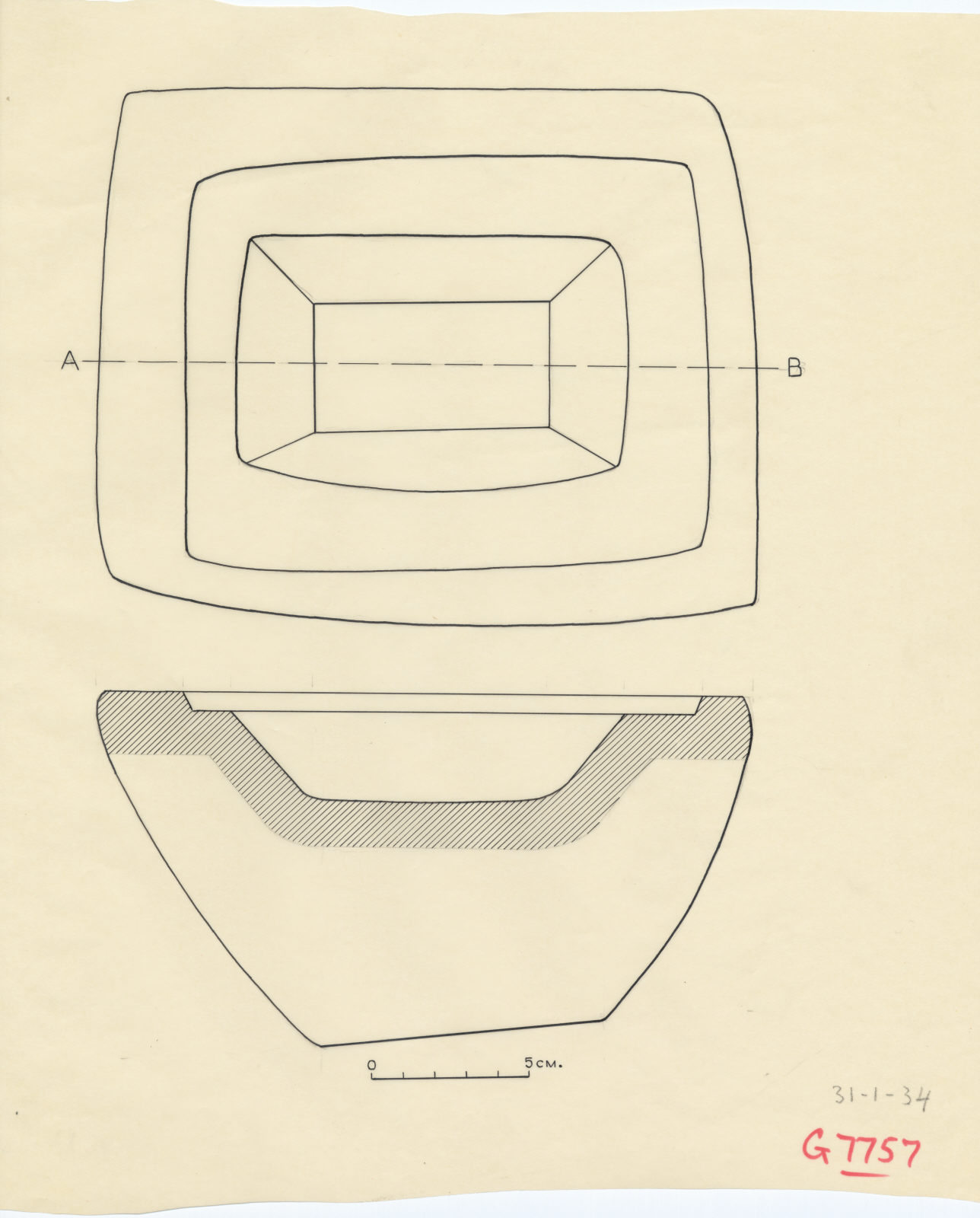 Drawings: offering basin from G 7757