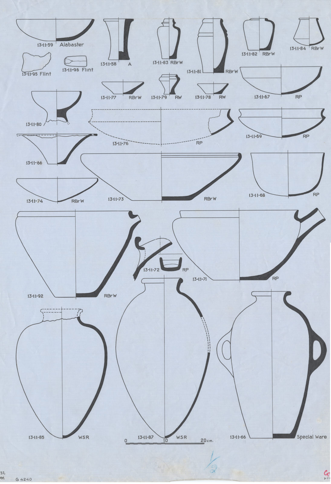 Drawings: G 4240: objects