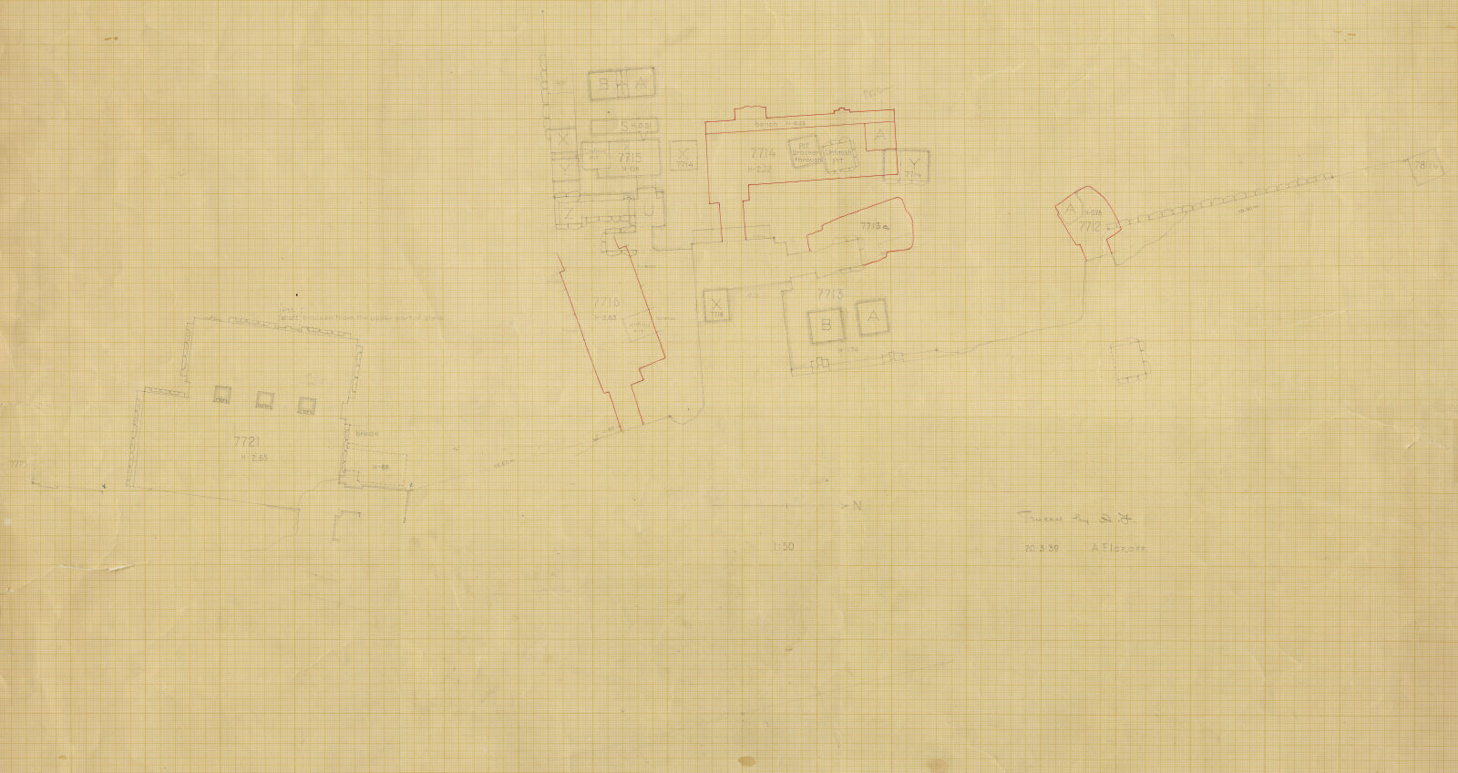 Maps and plans: Plan of G 7712-G 7716, G 7721