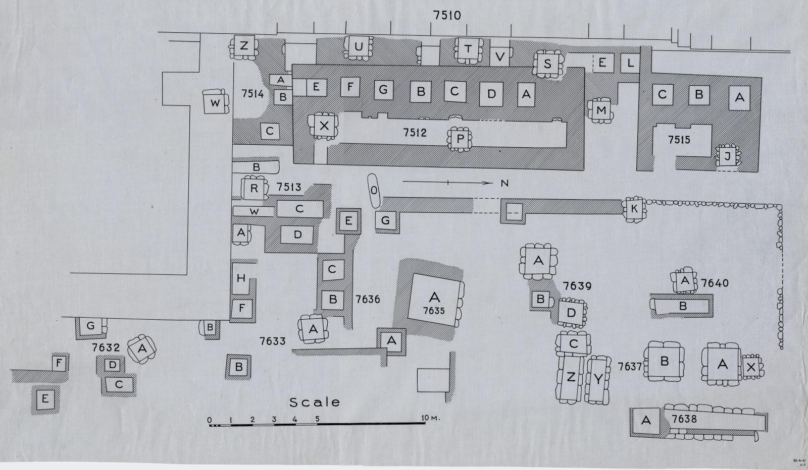 Maps and plans: Plan of Cemetery G 7000, NE corner