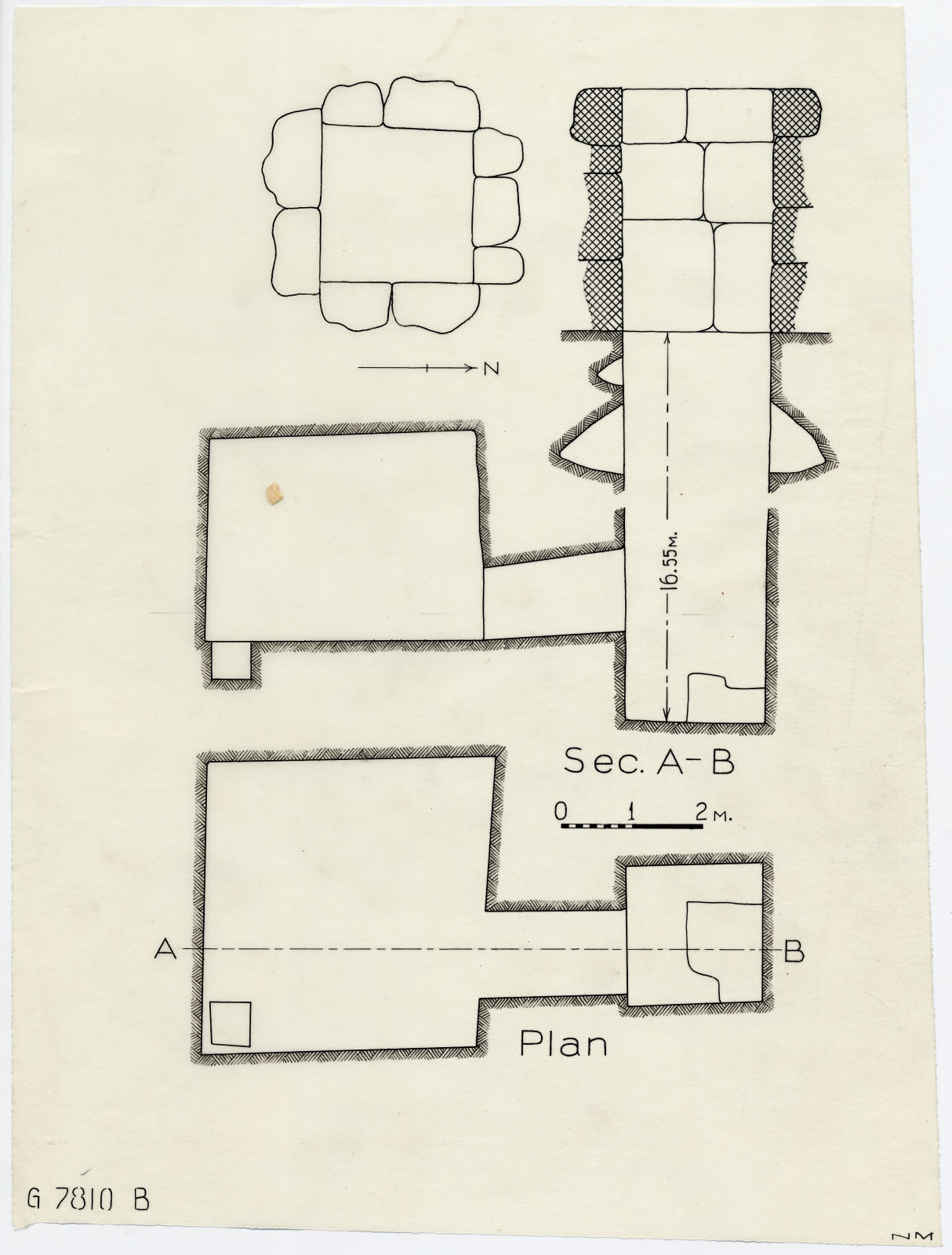 Maps and plans: G 7810, Shaft B