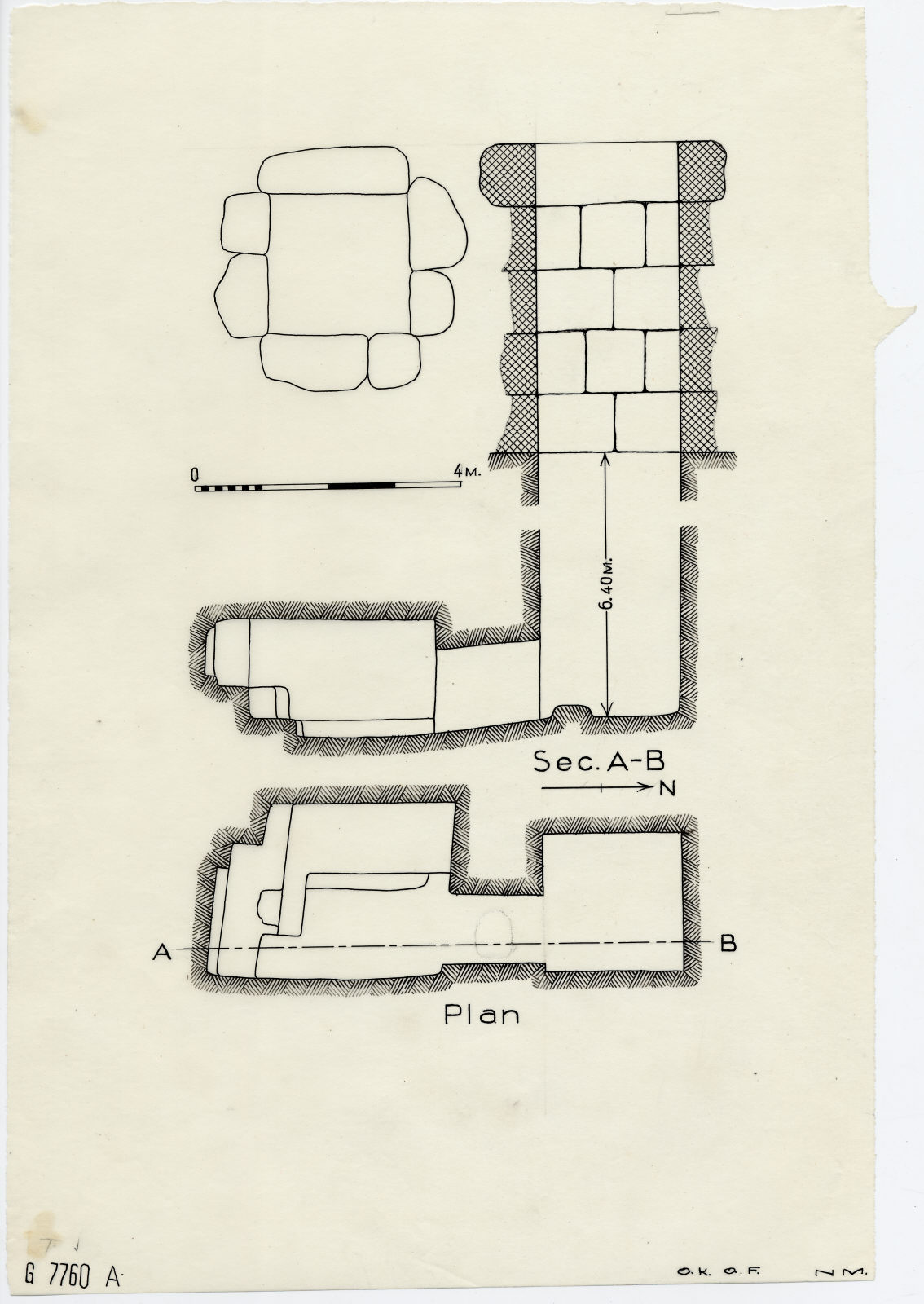 Maps and plans: G 7760, Shaft A