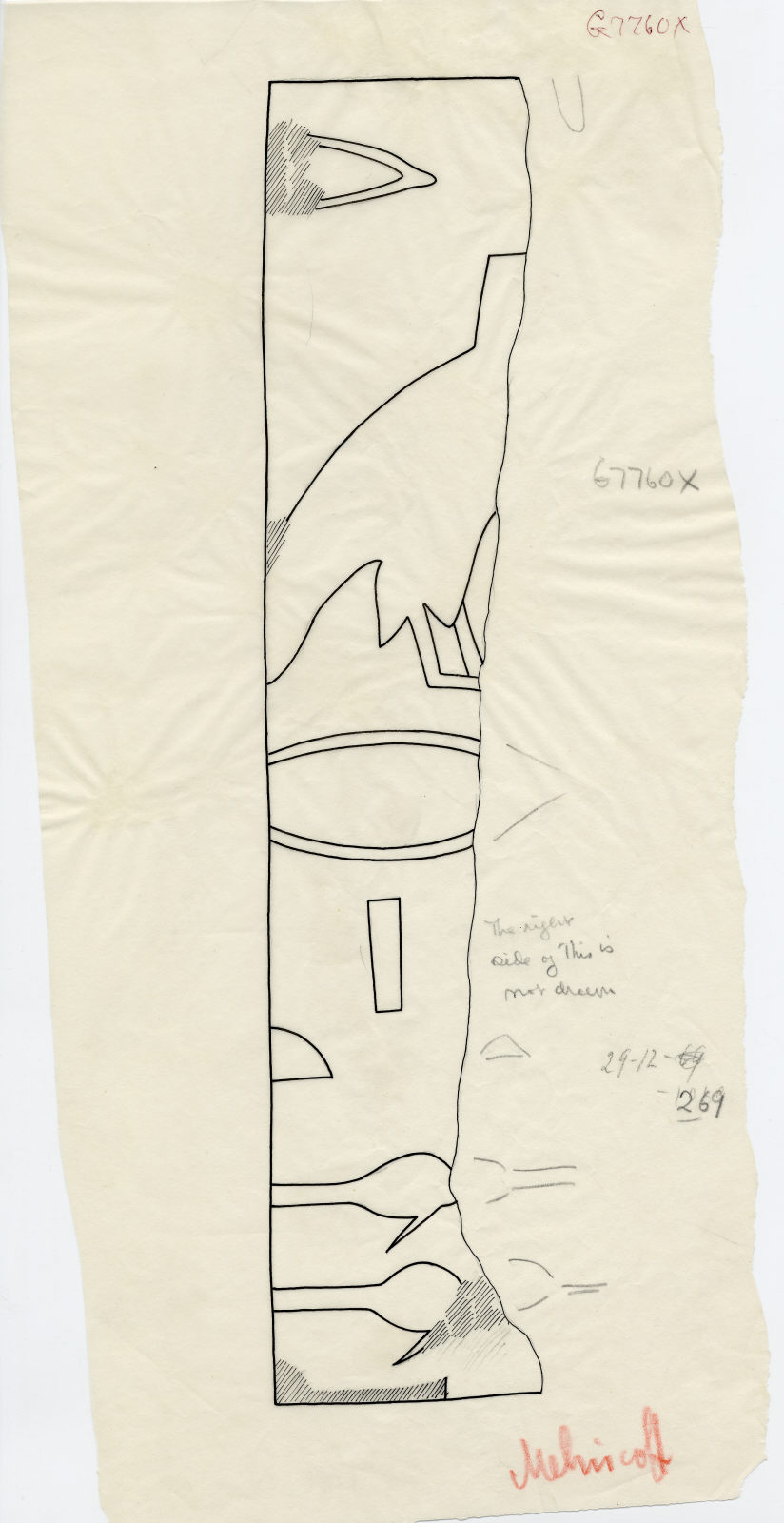 Drawings: G 7760: fragments of relief