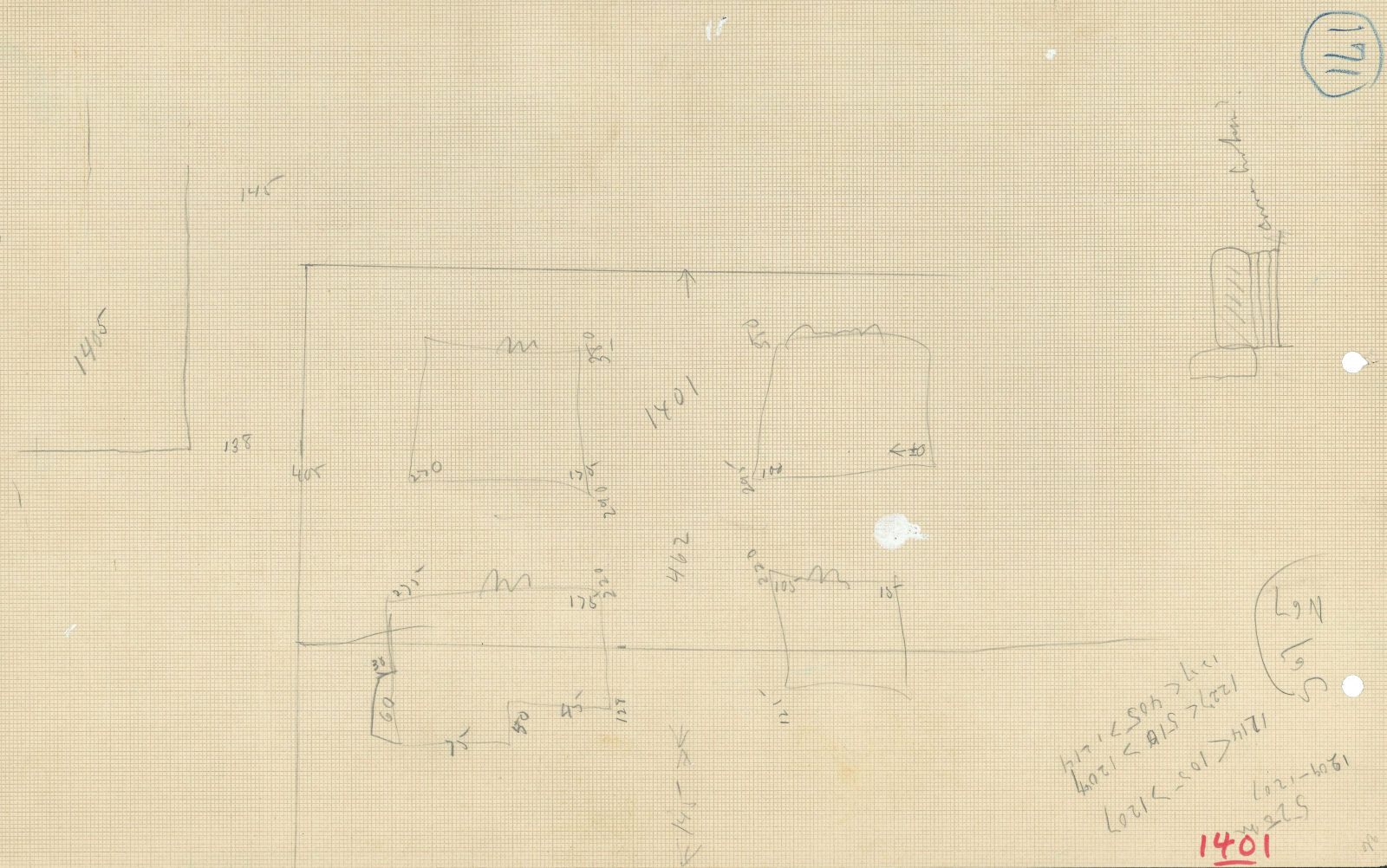 Maps and plans: G 1401, Sketch plan