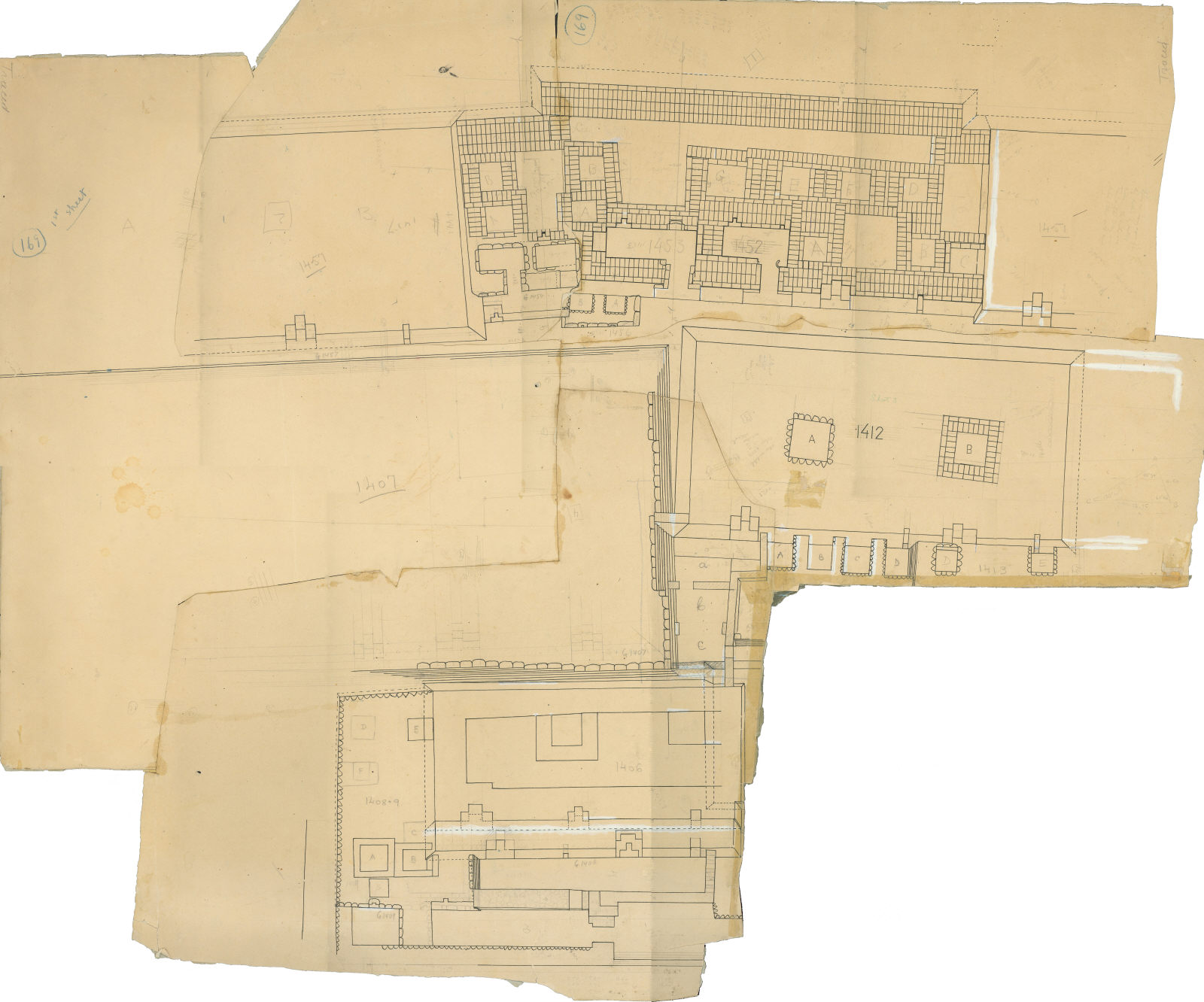 Maps and plans: Plan of Cemetery G 1400