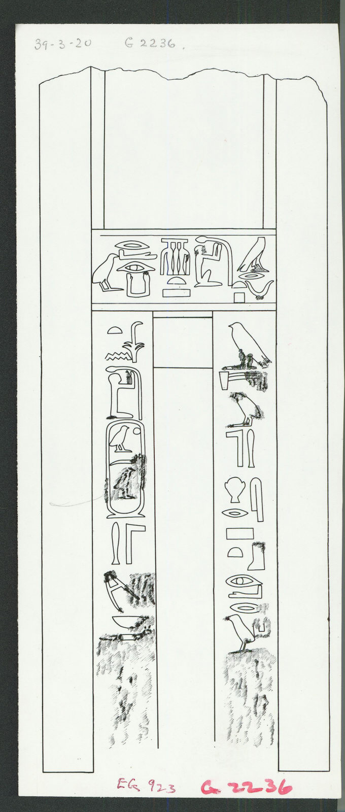 Drawings: G 2236: relief from false door of Irukare