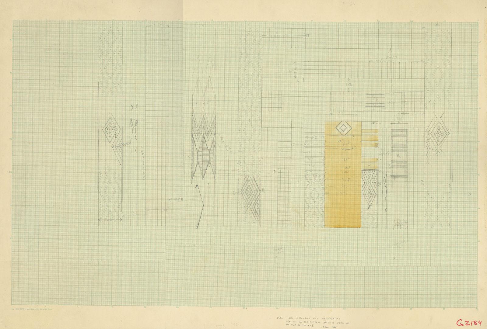 Drawings: G 2184: false door patterns