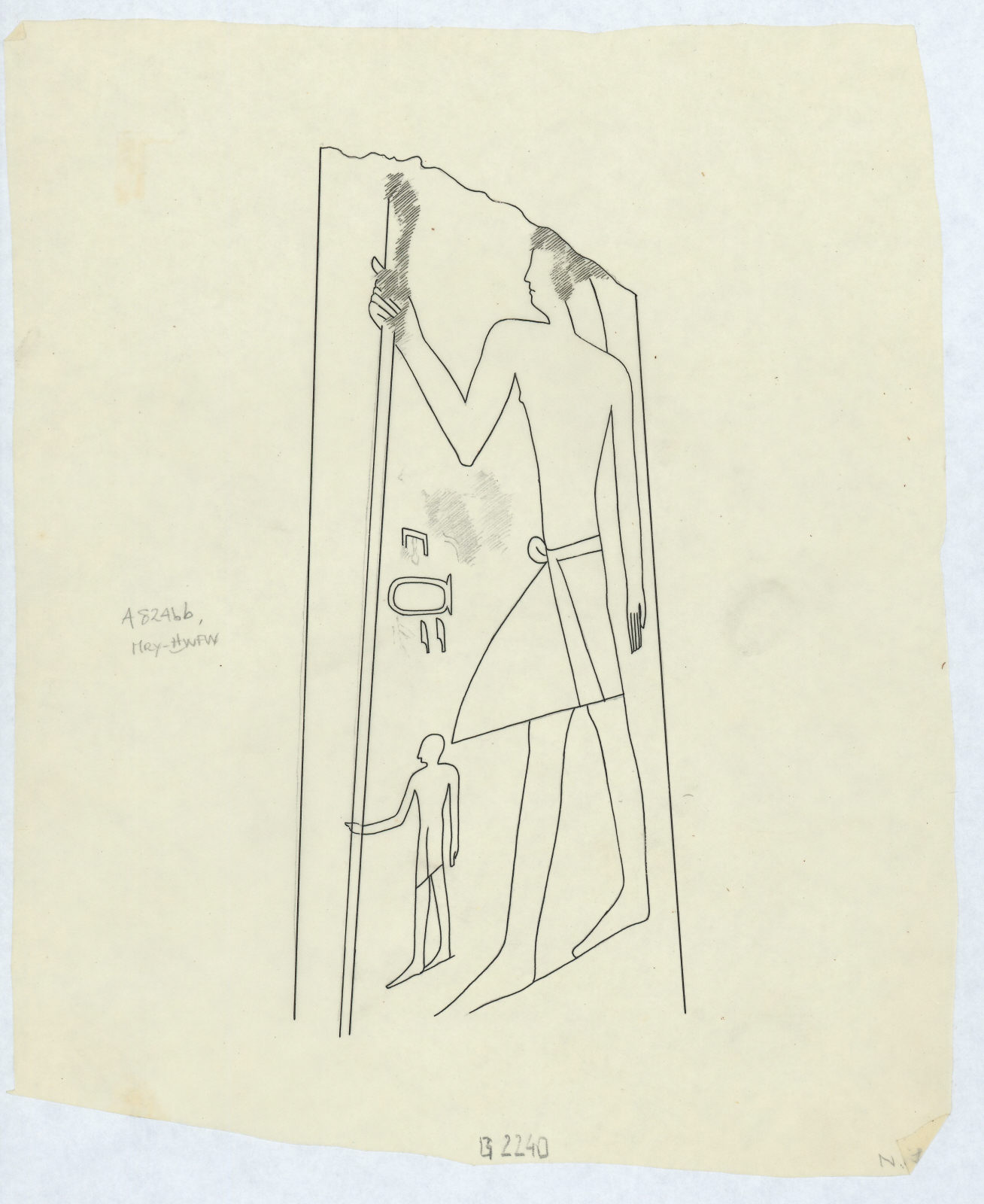 Drawings: G 2240: relief from S jamb