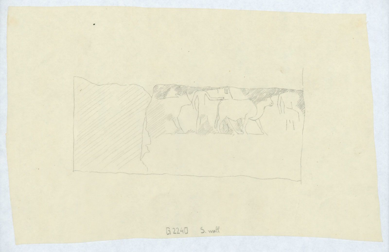 Drawings: G 2240: relief from S wall
