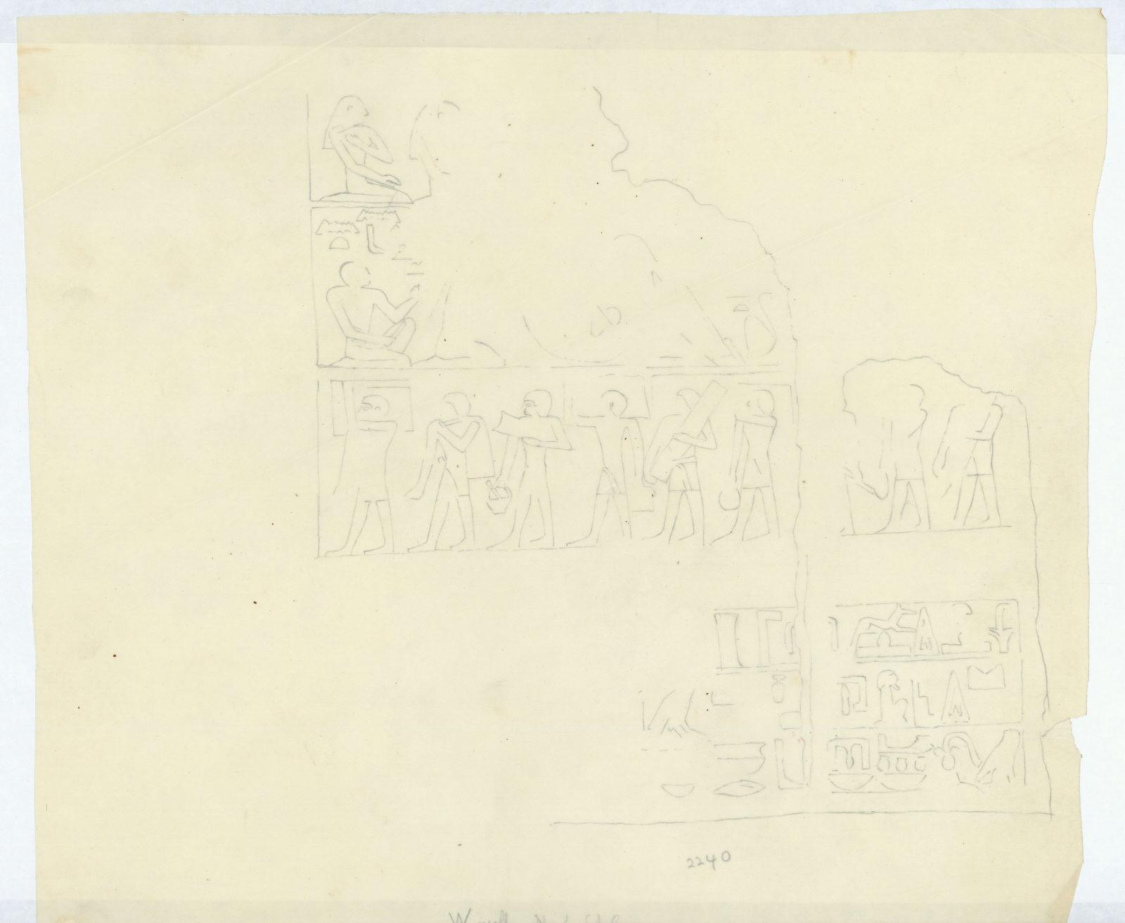 Drawings: G 2240: relief from W wall, N of false door