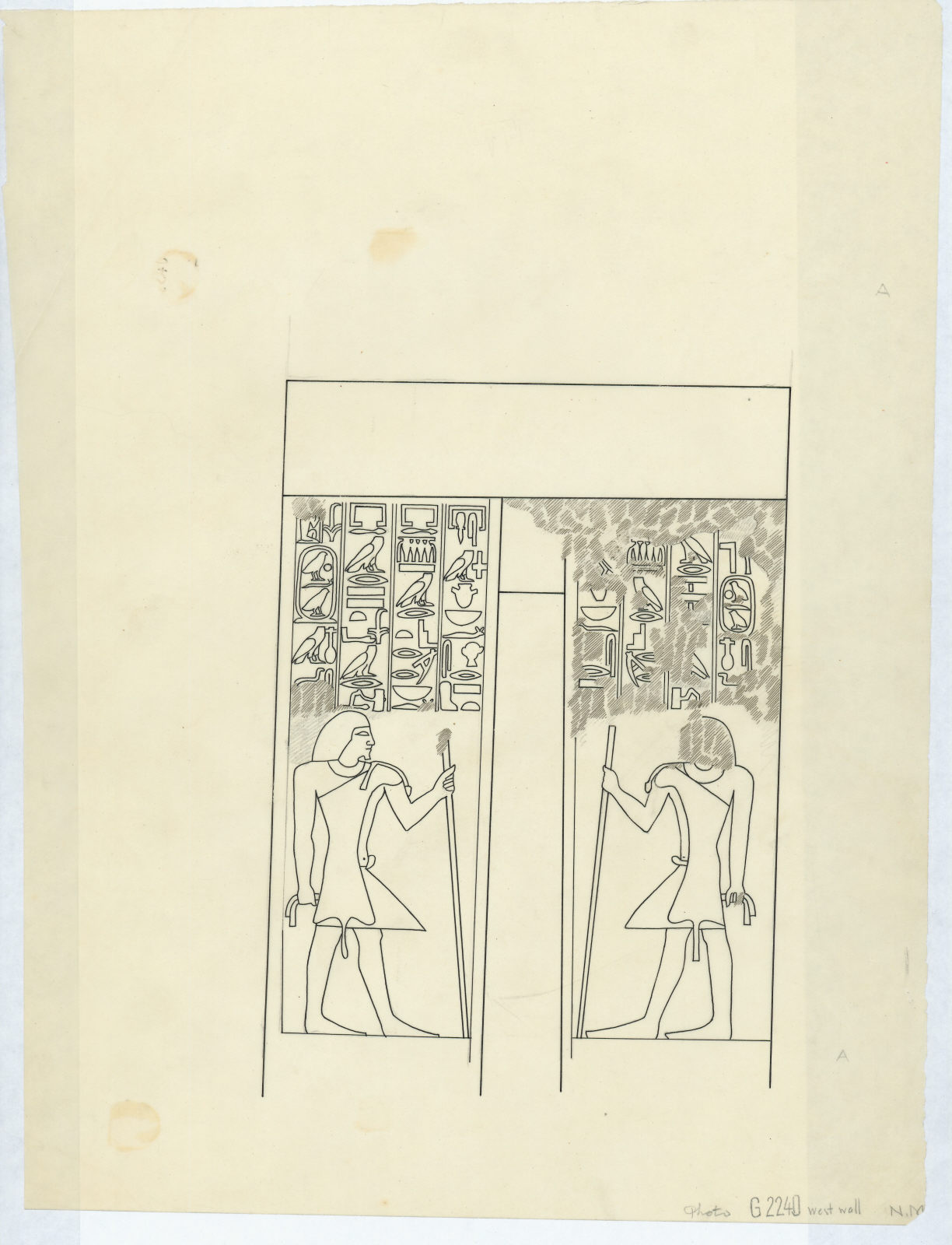 Drawings: G 2240: relief from W wall, false door