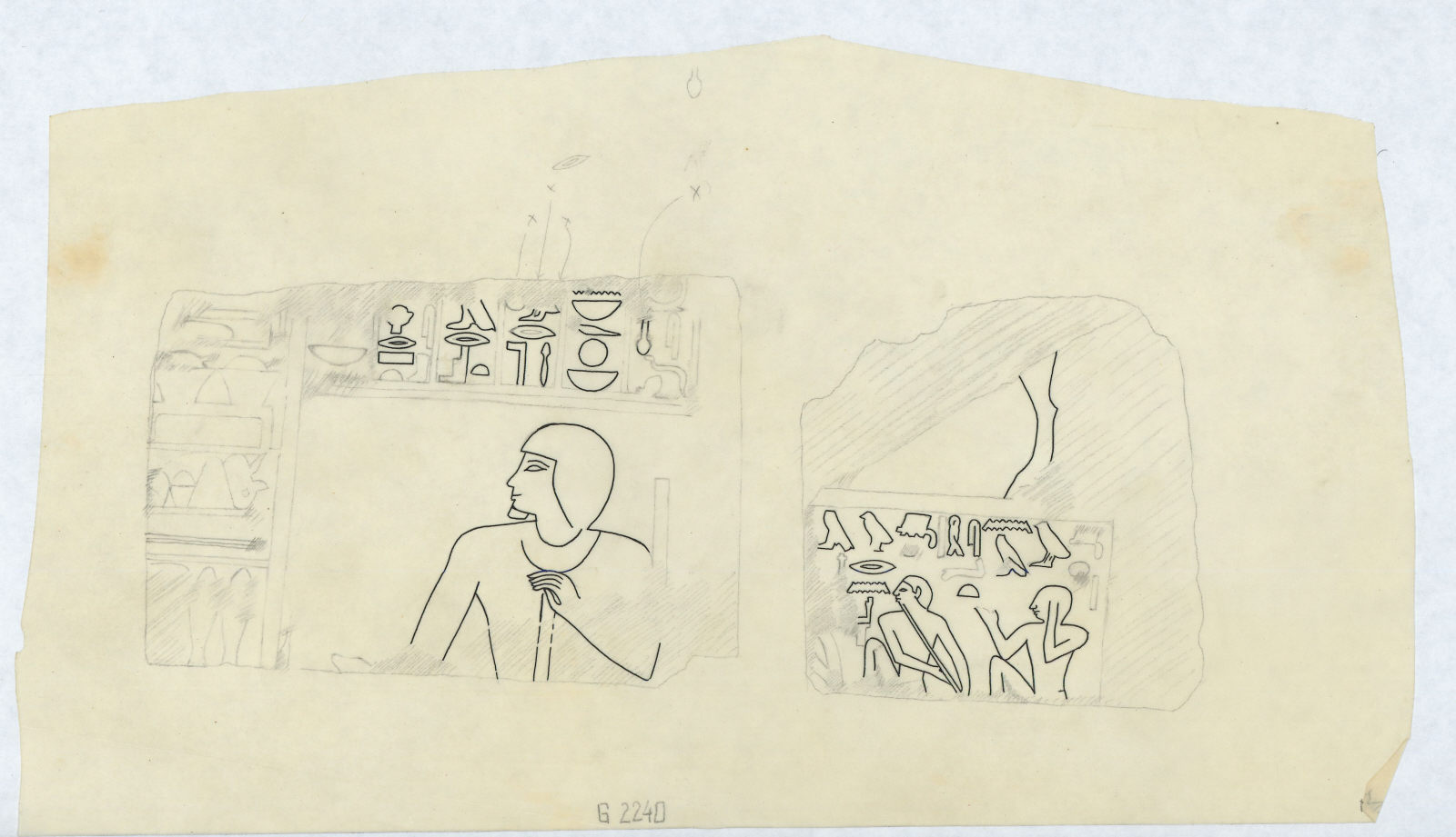 Drawings: G 2240: relief from displaced blocks
