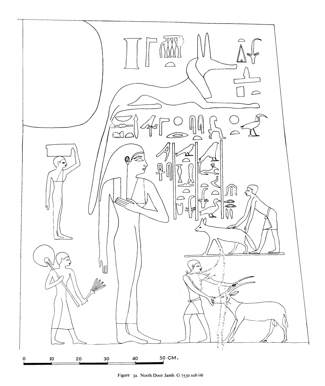 Drawings: G 7530: relief from N jamb