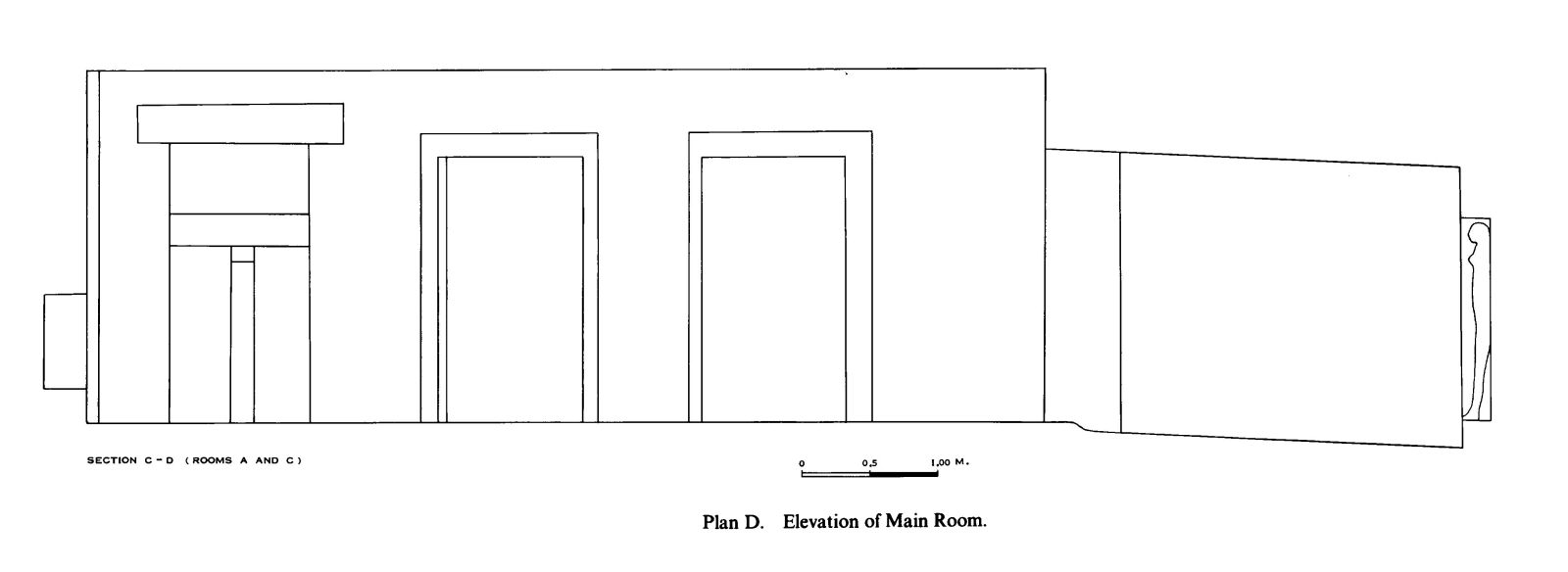 Maps and plans: G 7530-7540, Elevation of main room