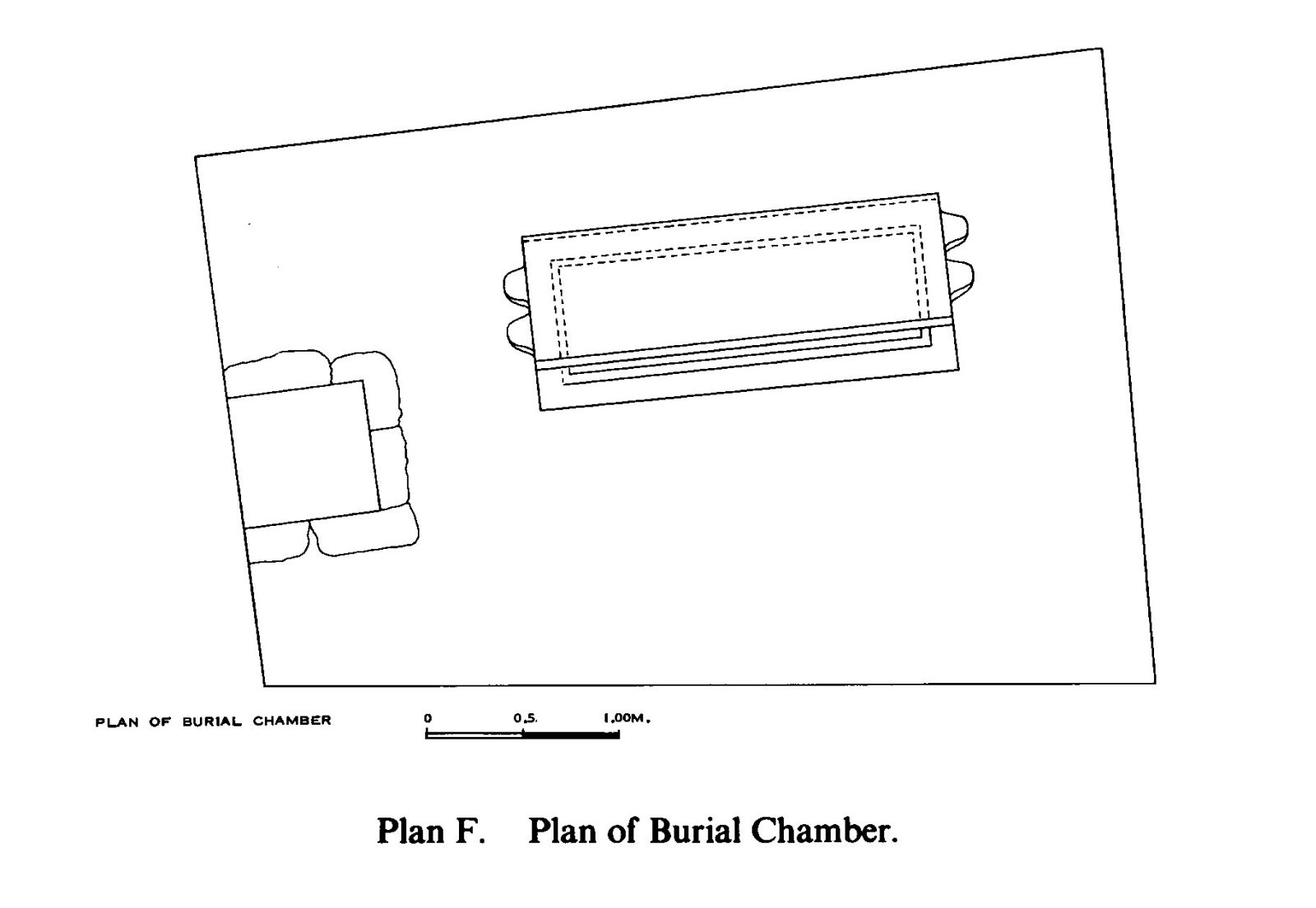 Maps and plans: Plan of G 7530-7540, burial chamber