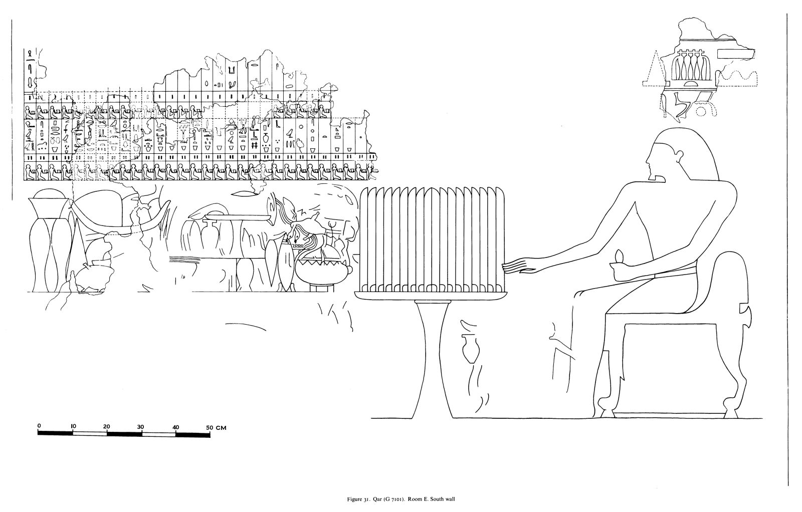 Drawings: G 7101: relief from Room E, S wall