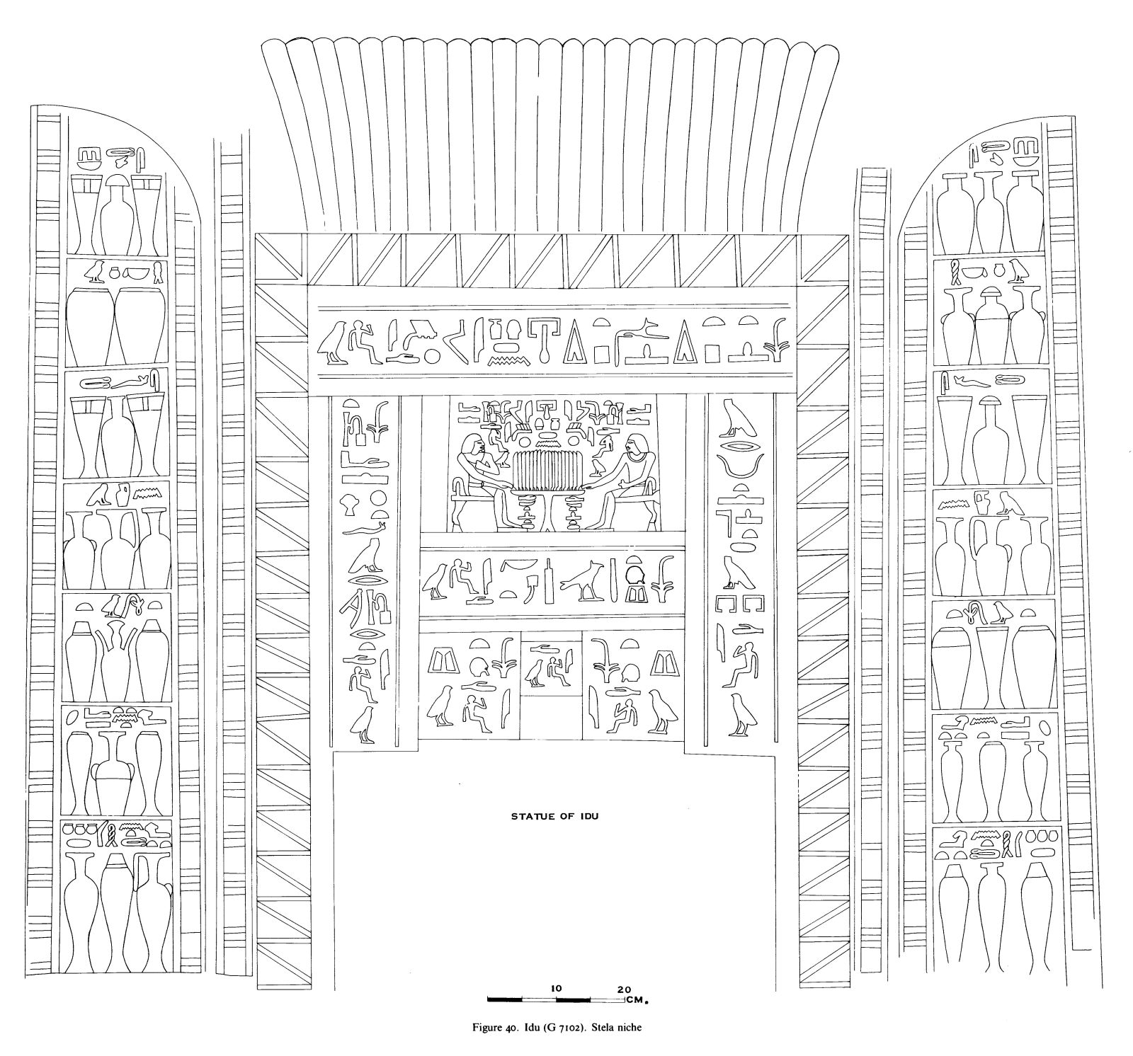 Drawings: G 7102: relief from stela niche