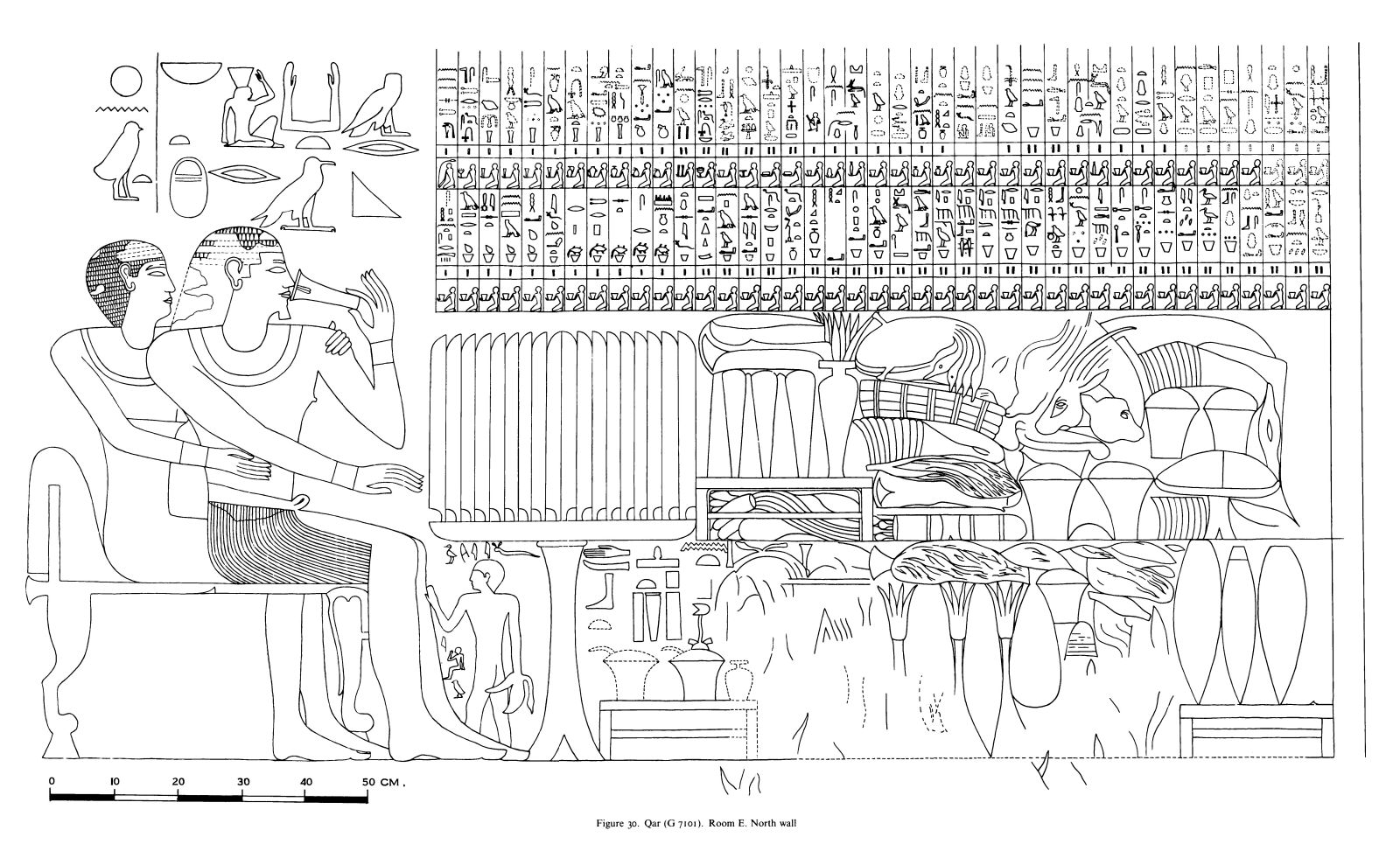 Drawings: G 7101: relief from Room E, N wall