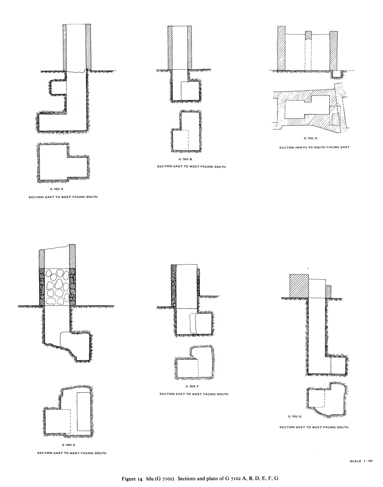 Maps and plans: G 7102, Shaft A, B, D-G