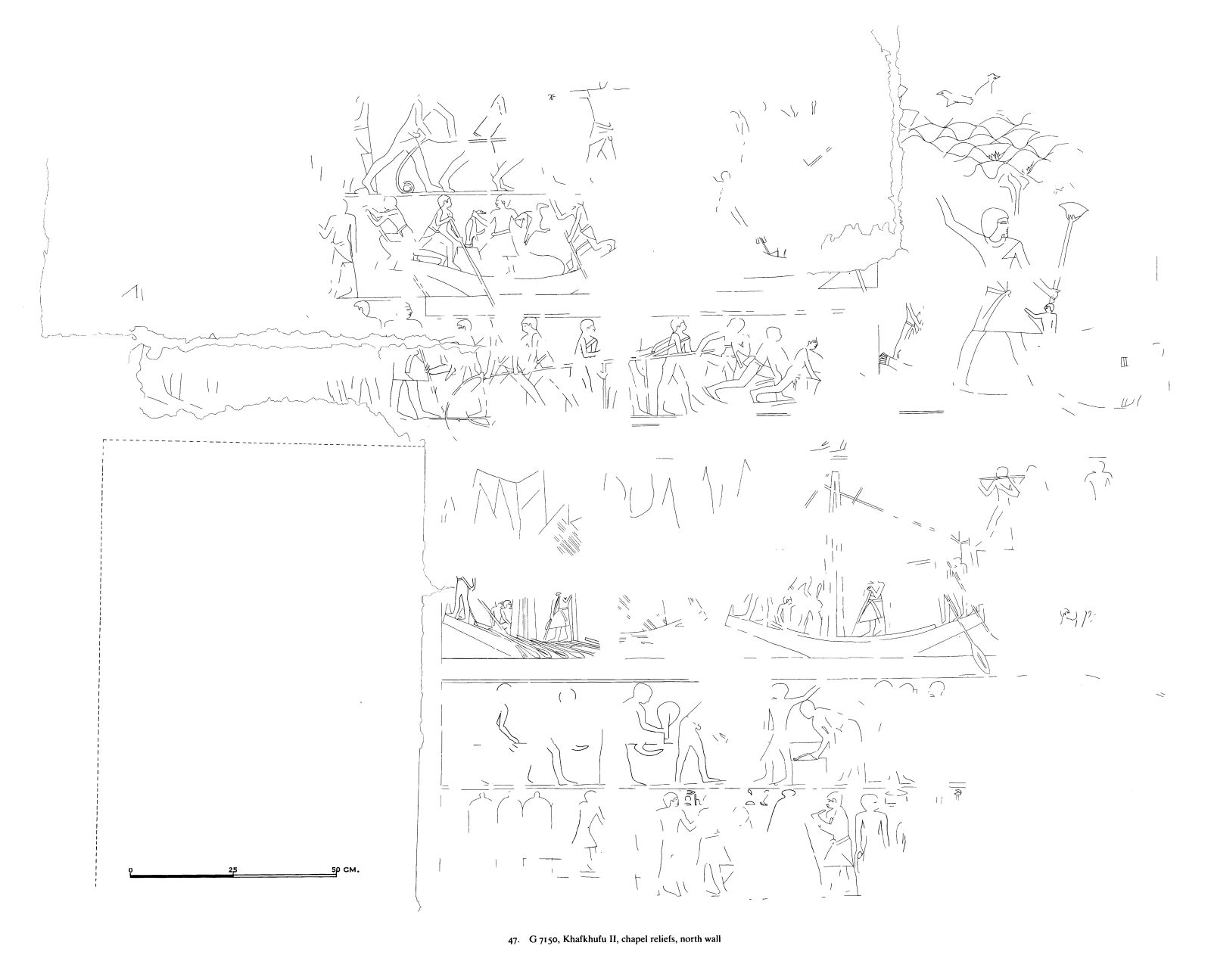 Drawings: G 7150: relief from chapel, N wall