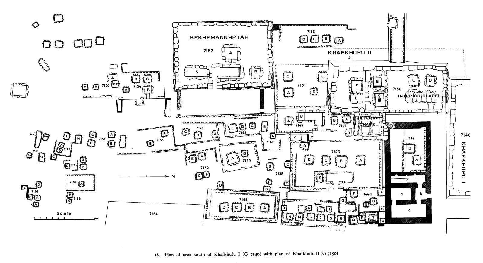 Maps and plans: Plan of Eastern Cemetery: area S of G 7140