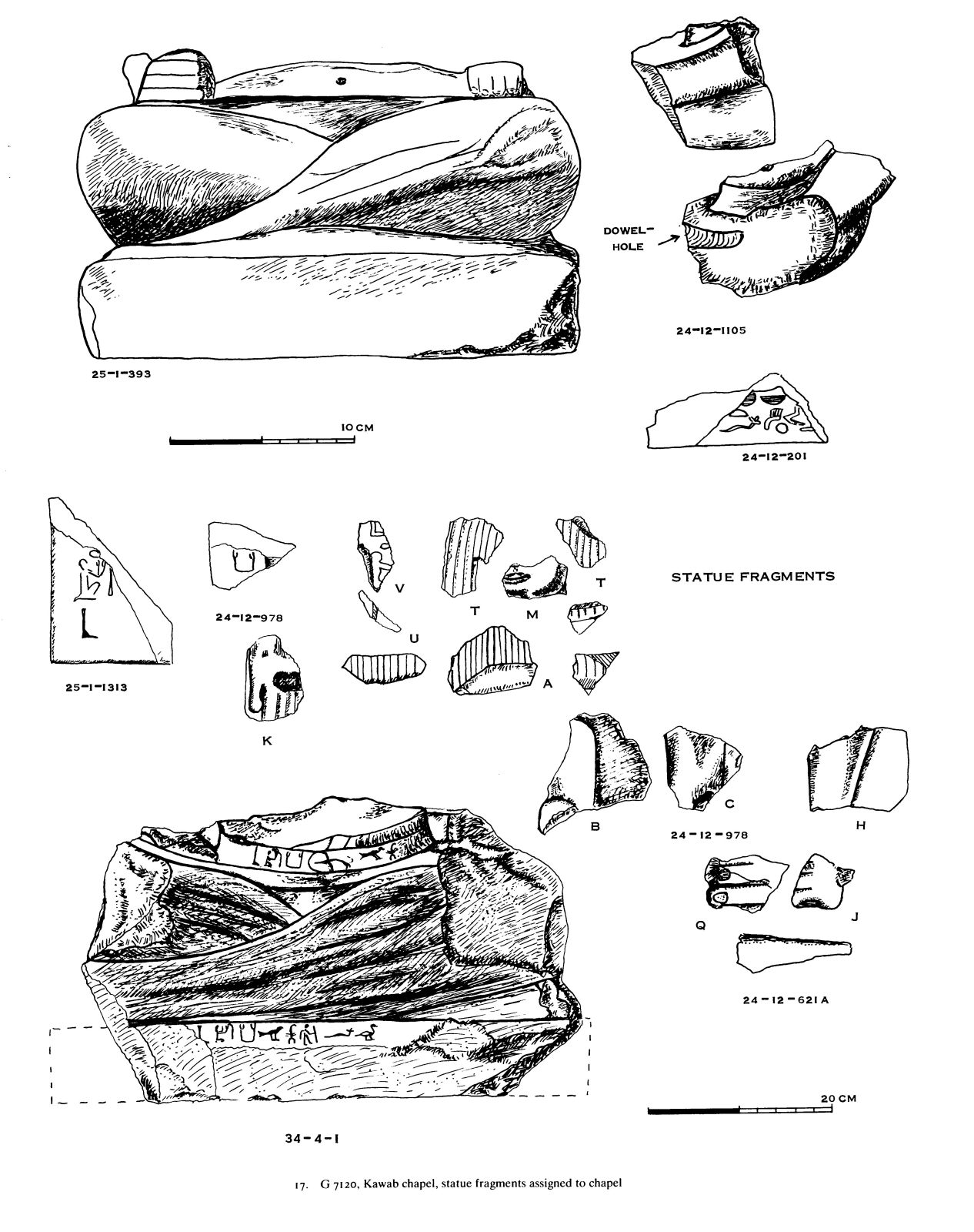Drawings: G 7120: fragments of stone objects assigned to chapel