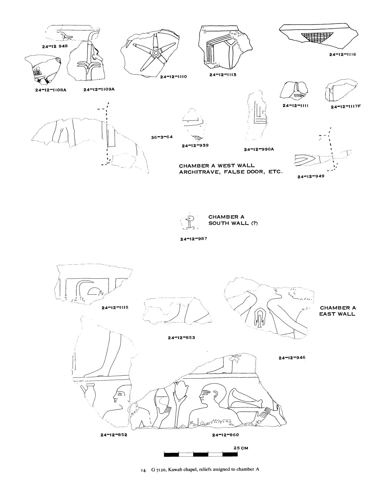 Drawings: G 7120: relief assigned to chamber A