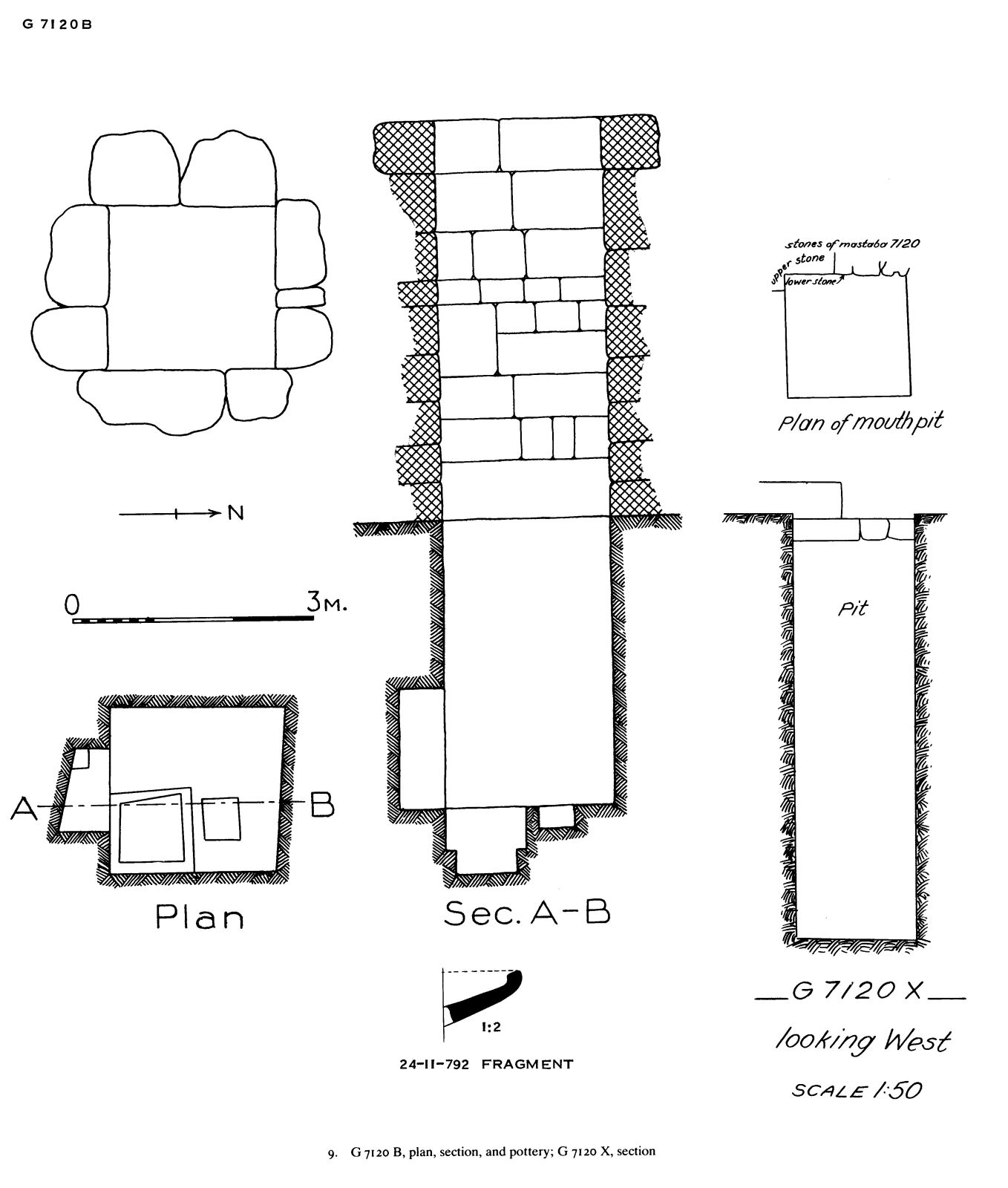 Maps and plans: G 7120, Shaft B, G, X