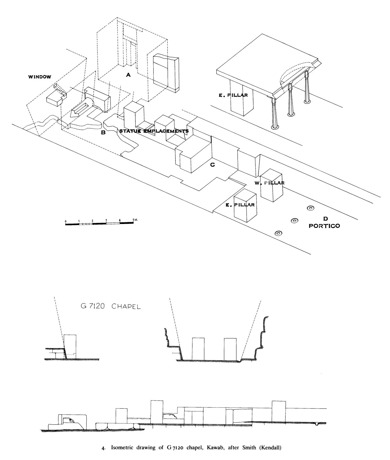 Maps and plans: Isometric plan of G 7120, chapel