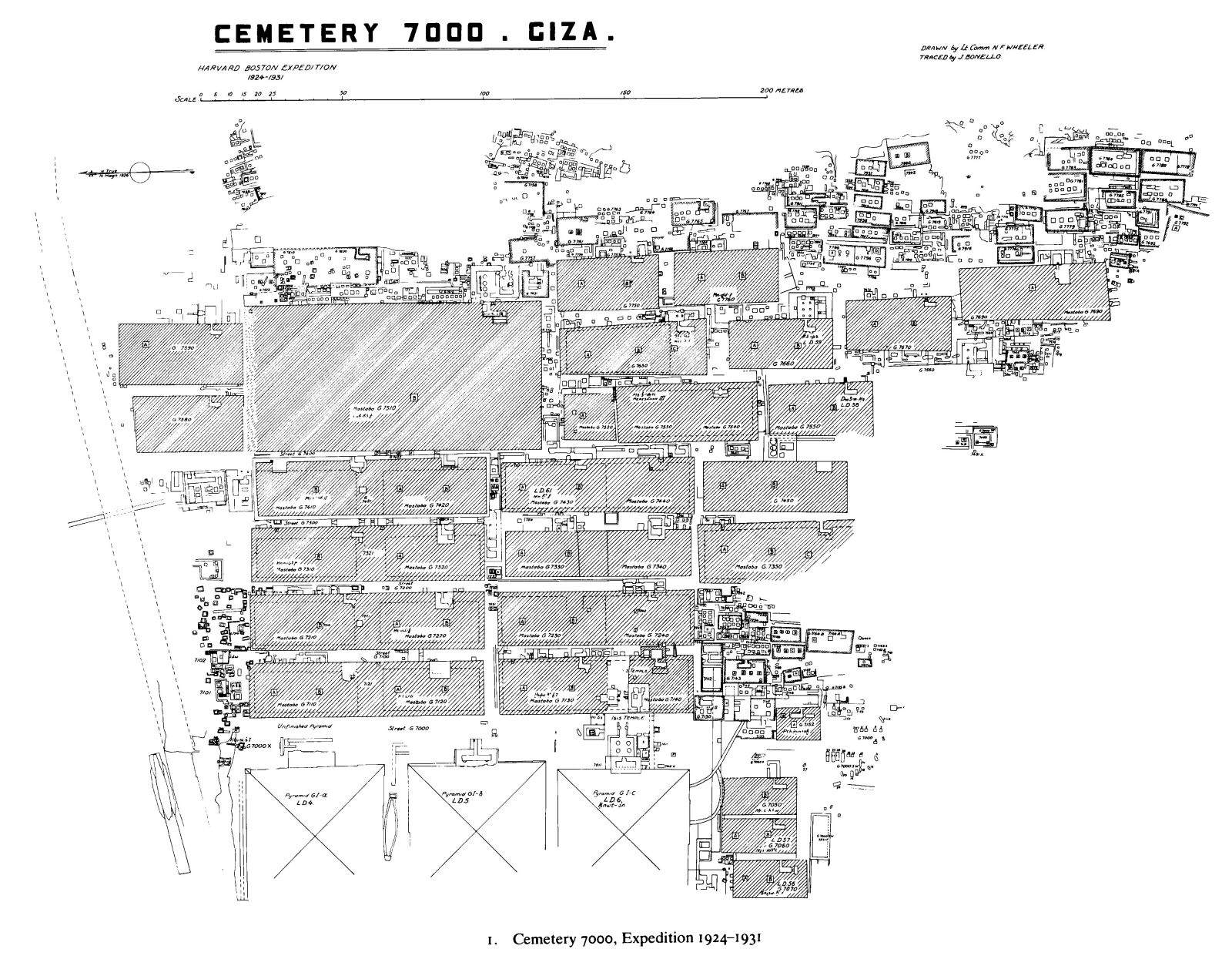 Maps and plans: Plan of Cemetery 7000