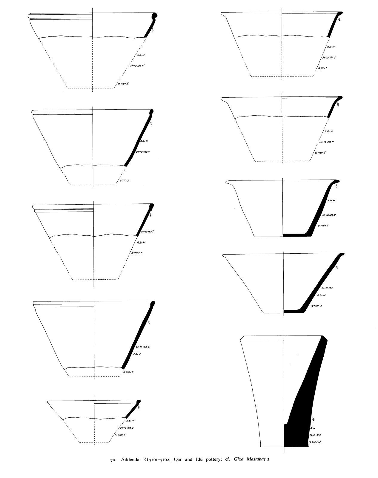 Drawings: G 7101: pottery