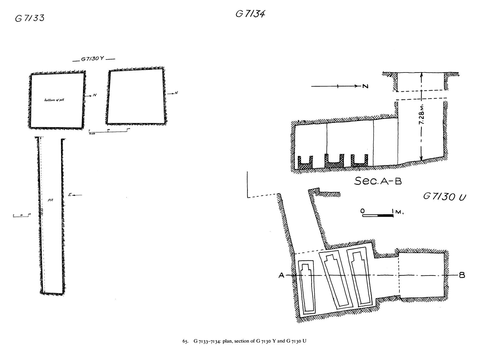 Maps and plans: G 7130, Shaft Y (= G 7133) and G 7130, Shaft U (= G 7134)