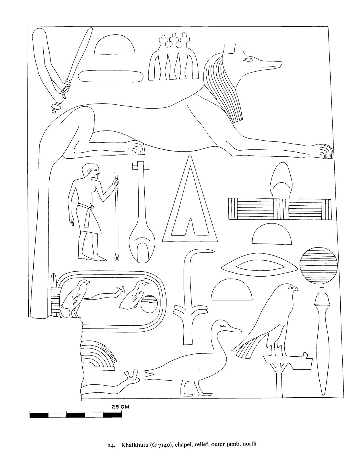 Drawings: G 7140: relief from chapel, outer jamb