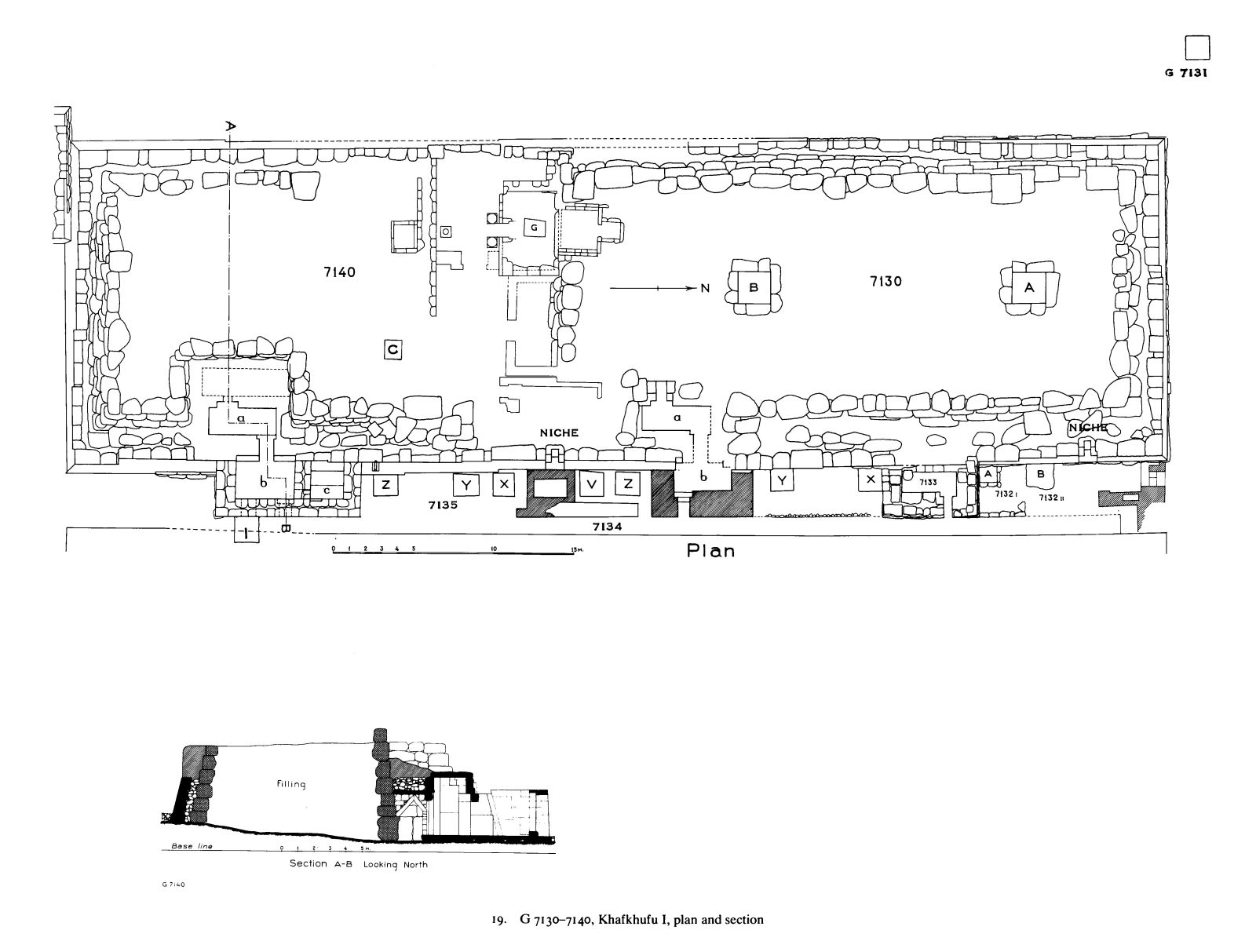 Maps and plans:  7130-7140, Plan and section
