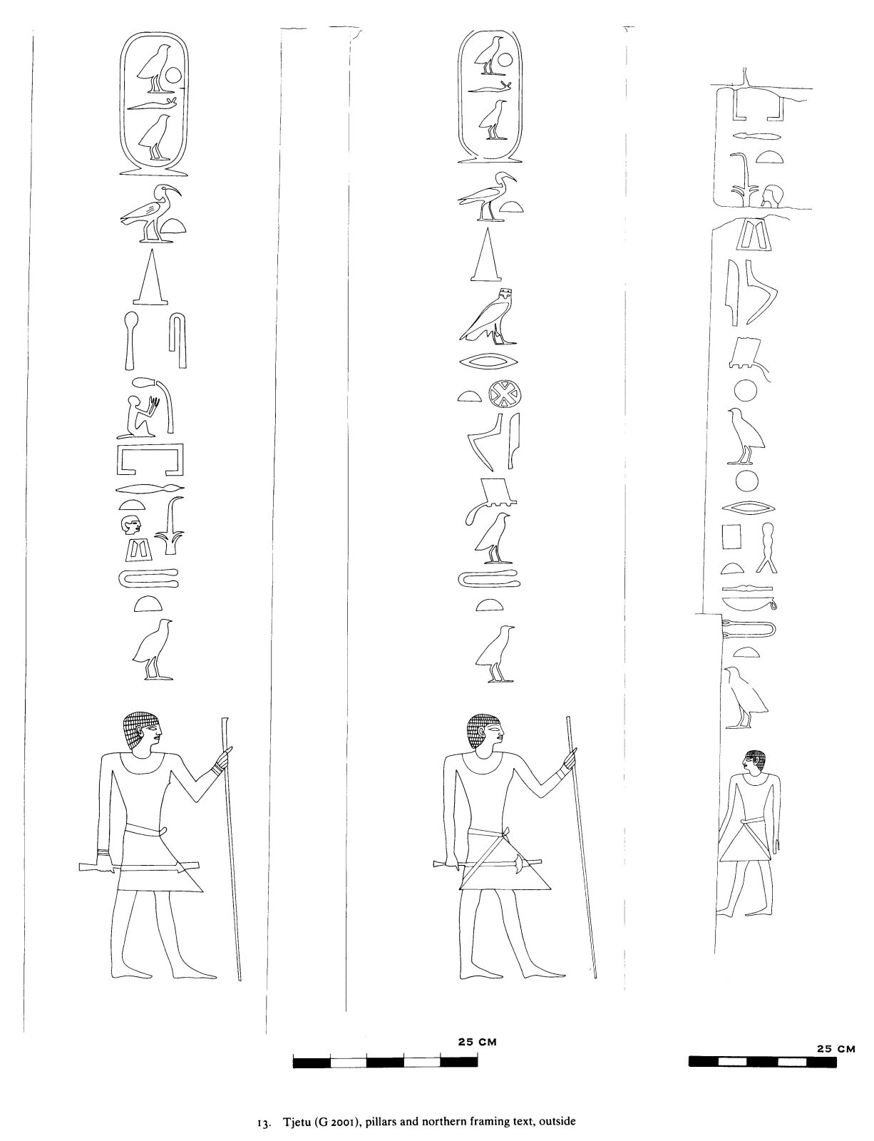 Drawings: G 2001: relief from pillars