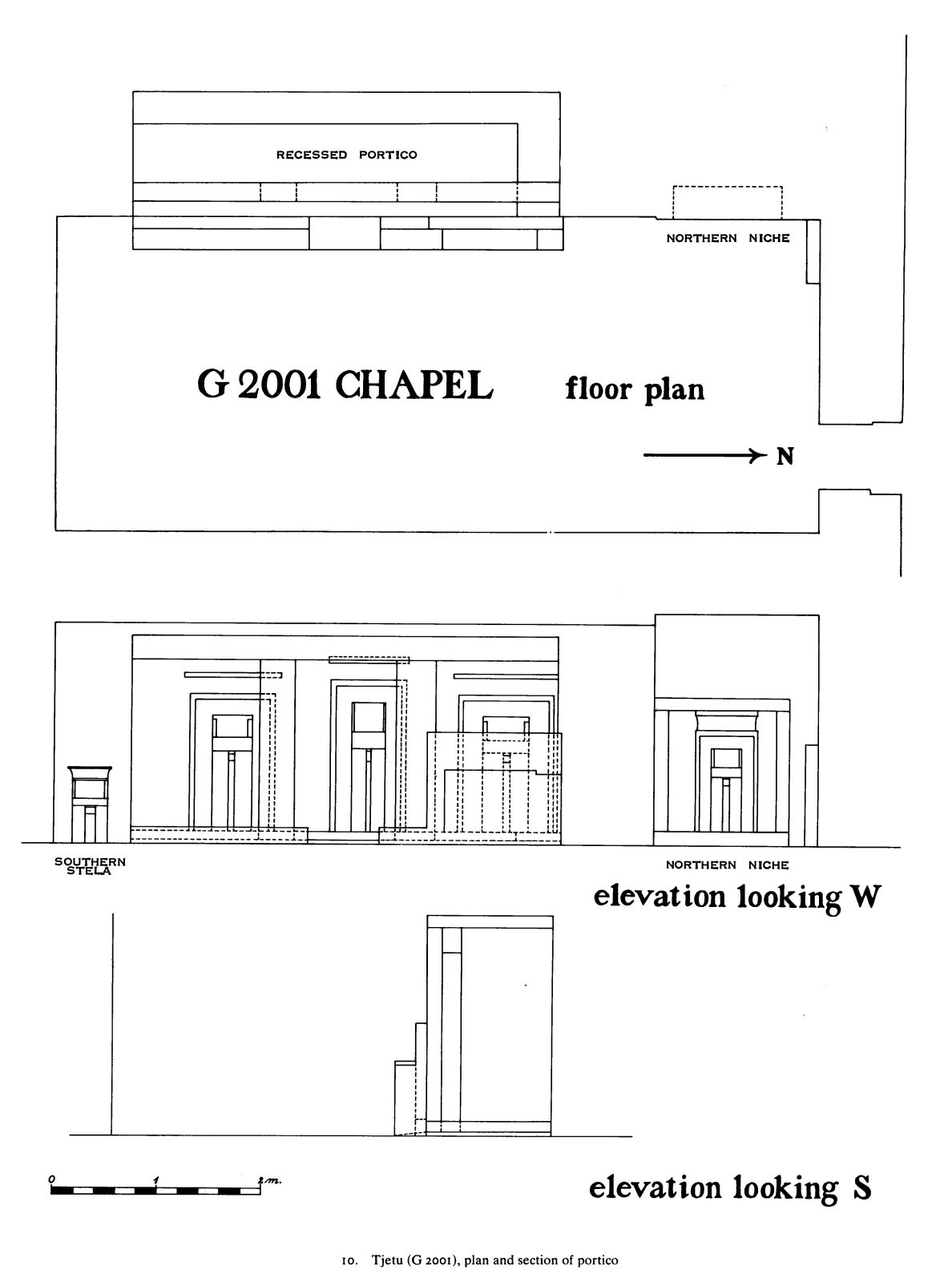 Maps and plans: G 2001, Plan and elevation of portico