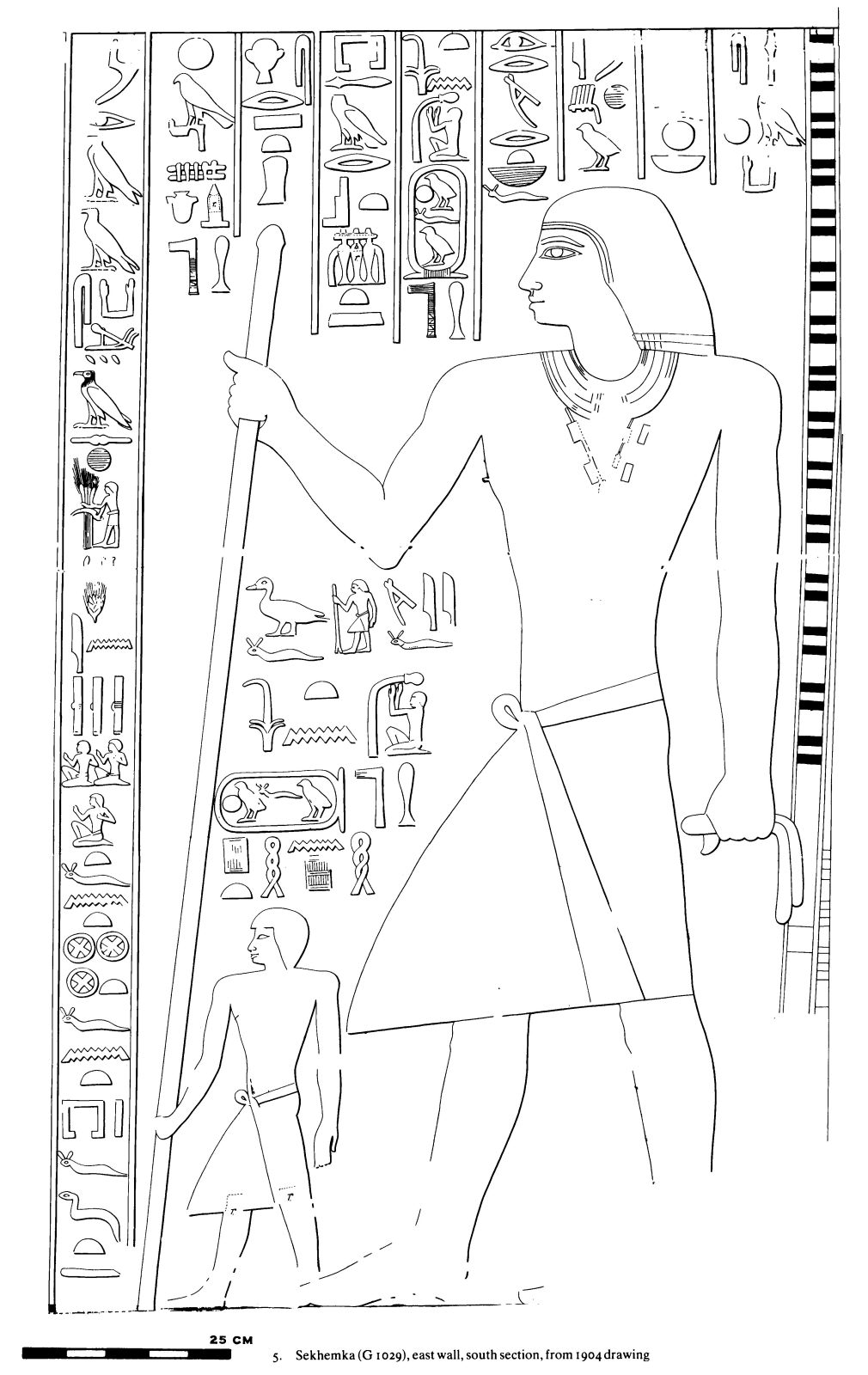 Drawings: G 1029: relief from E wall, S section