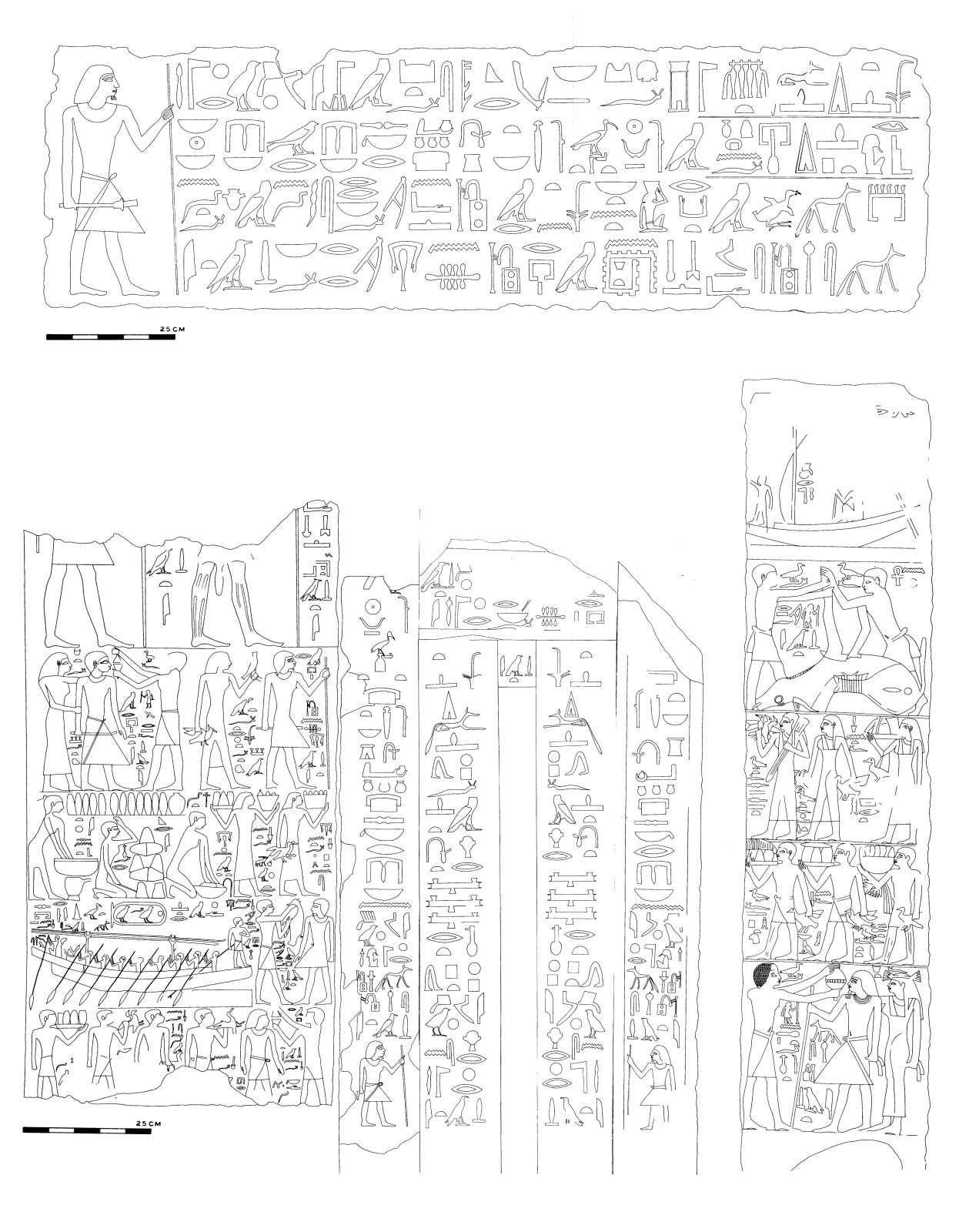 Drawings: G 2337, Shaft X: inscriptions from W wall