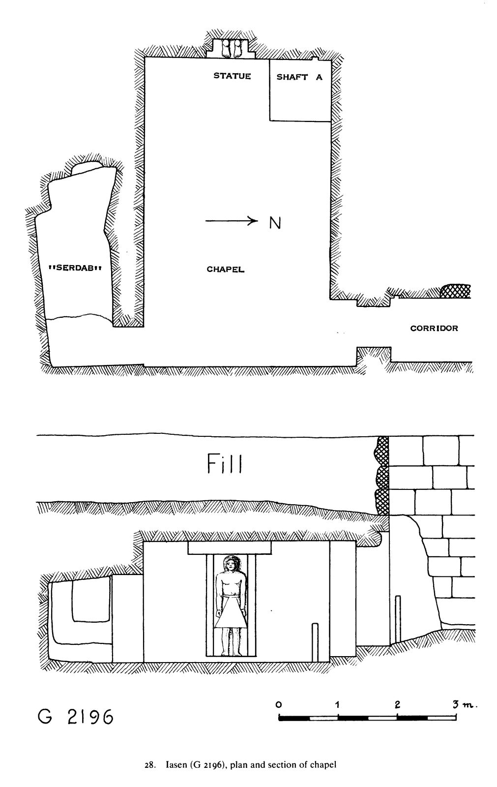 Maps and plans: G 2196, Plan and section of chapel