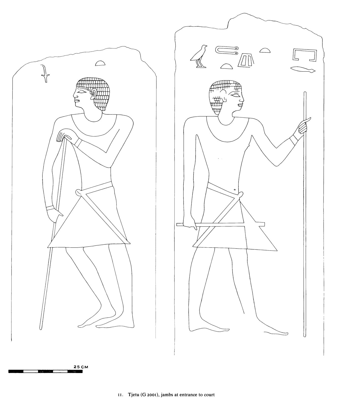 Drawings: G 2001: relief from entrance jambs