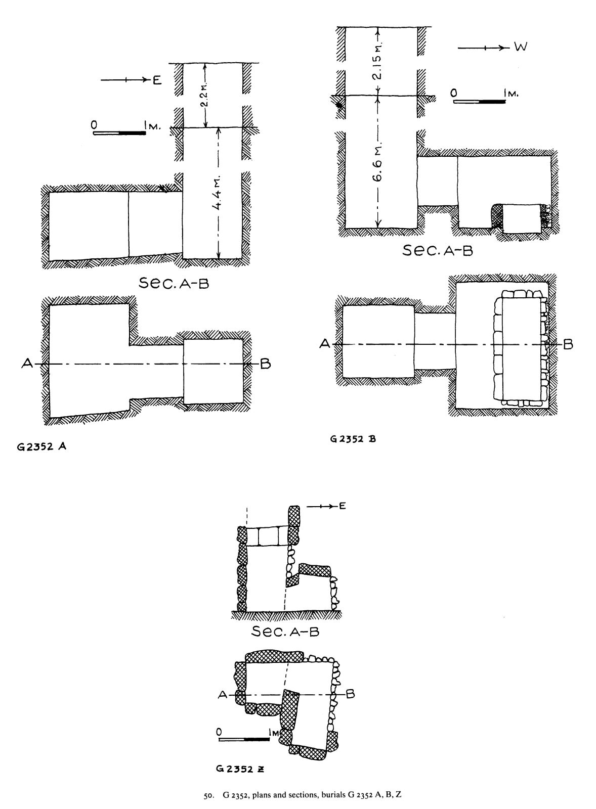 Maps and plans: G 2352, Shaft A, B, Z