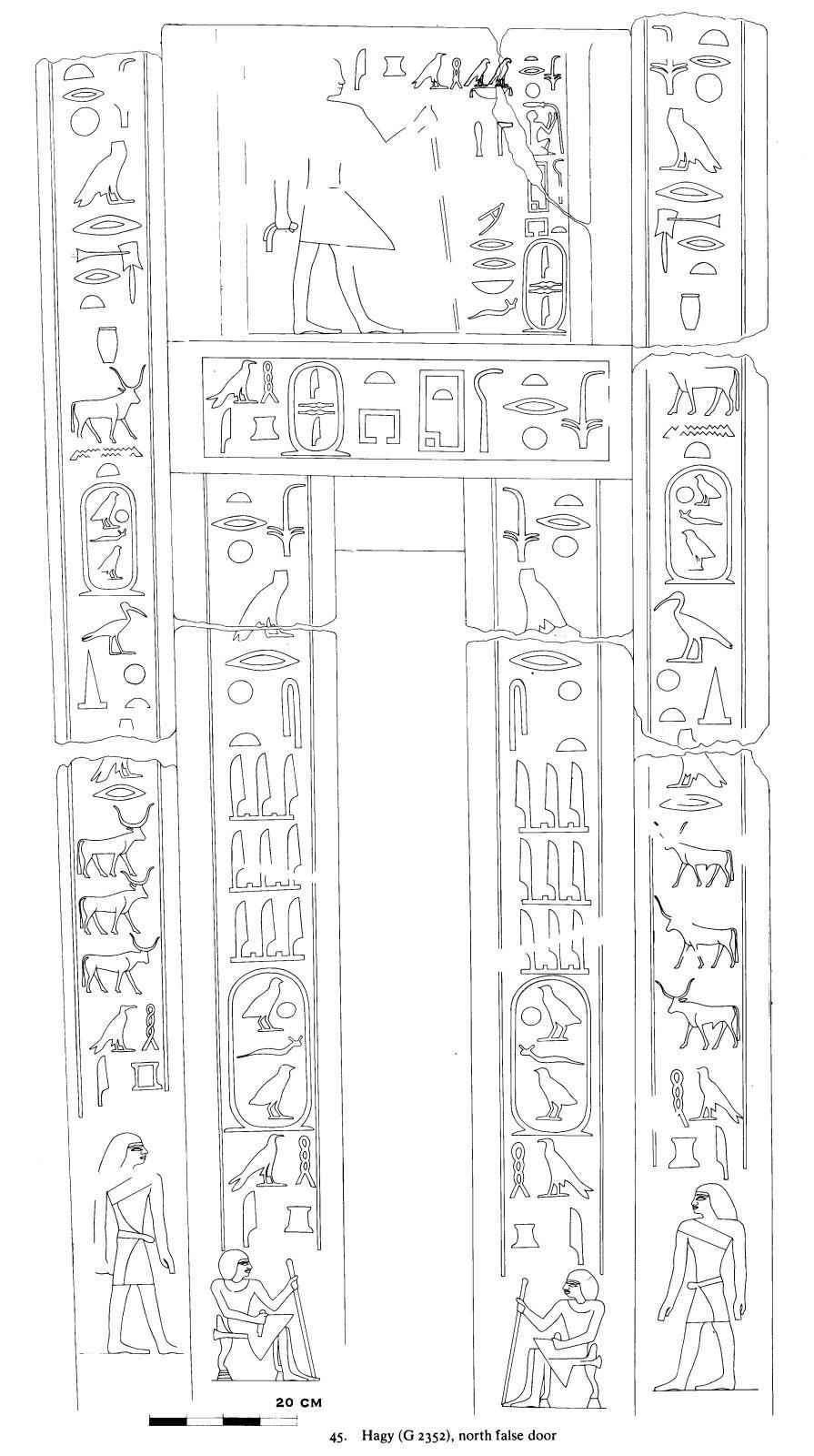 Drawings: G 2352: relief from N false door