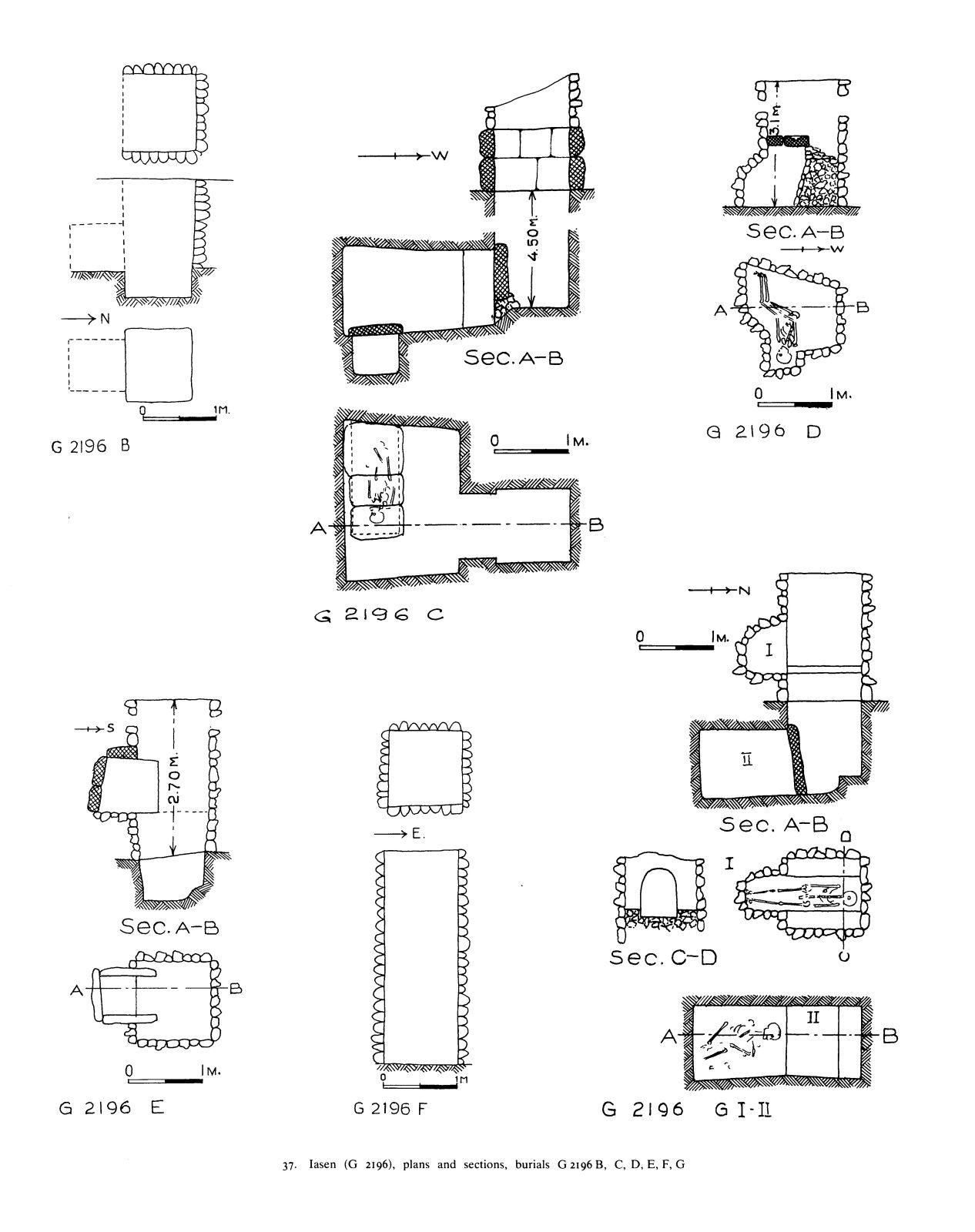 Maps and plans: G 2196, Shaft B-G