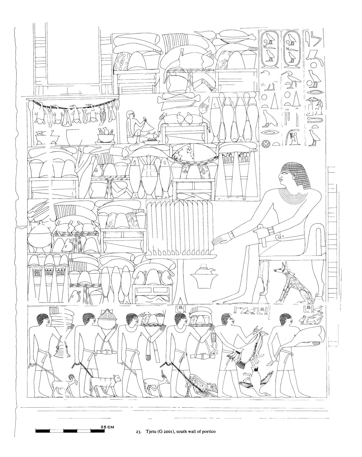 Drawings: G 2001: relief from portico, S wall