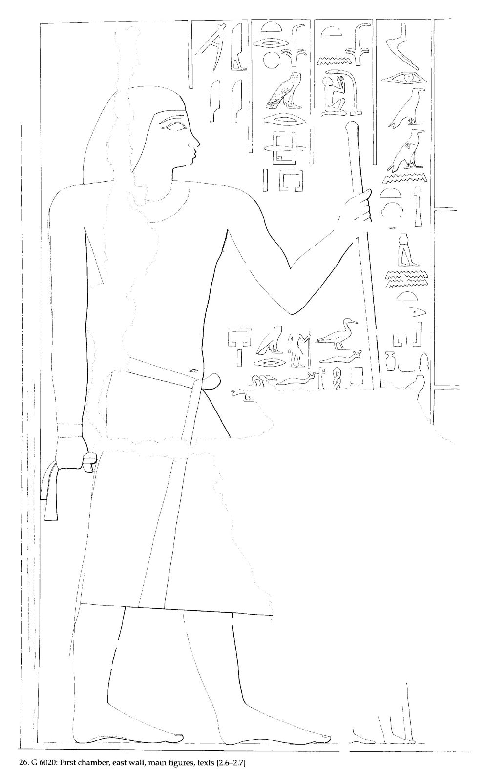 Drawings: G 6020: relief from first chamber, E wall