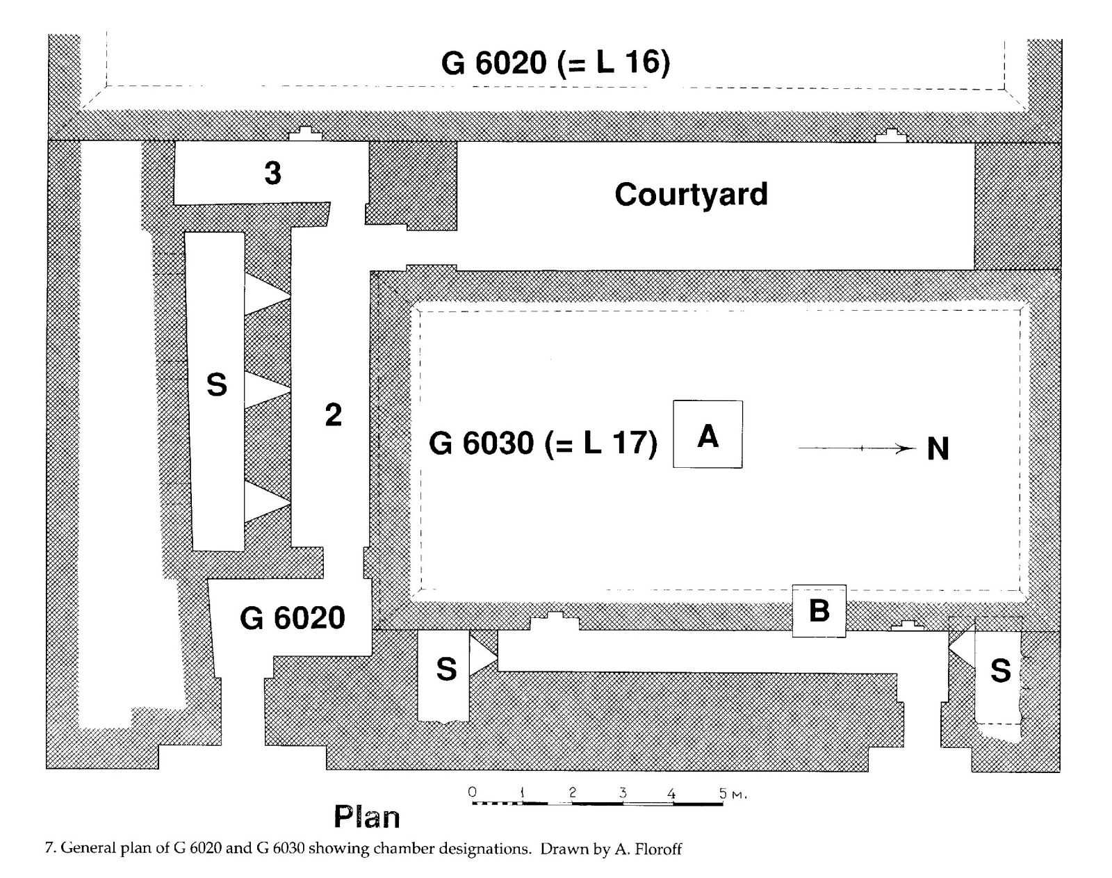 Maps and plans: Plan of G 6020 and G 6030, with chamber designations