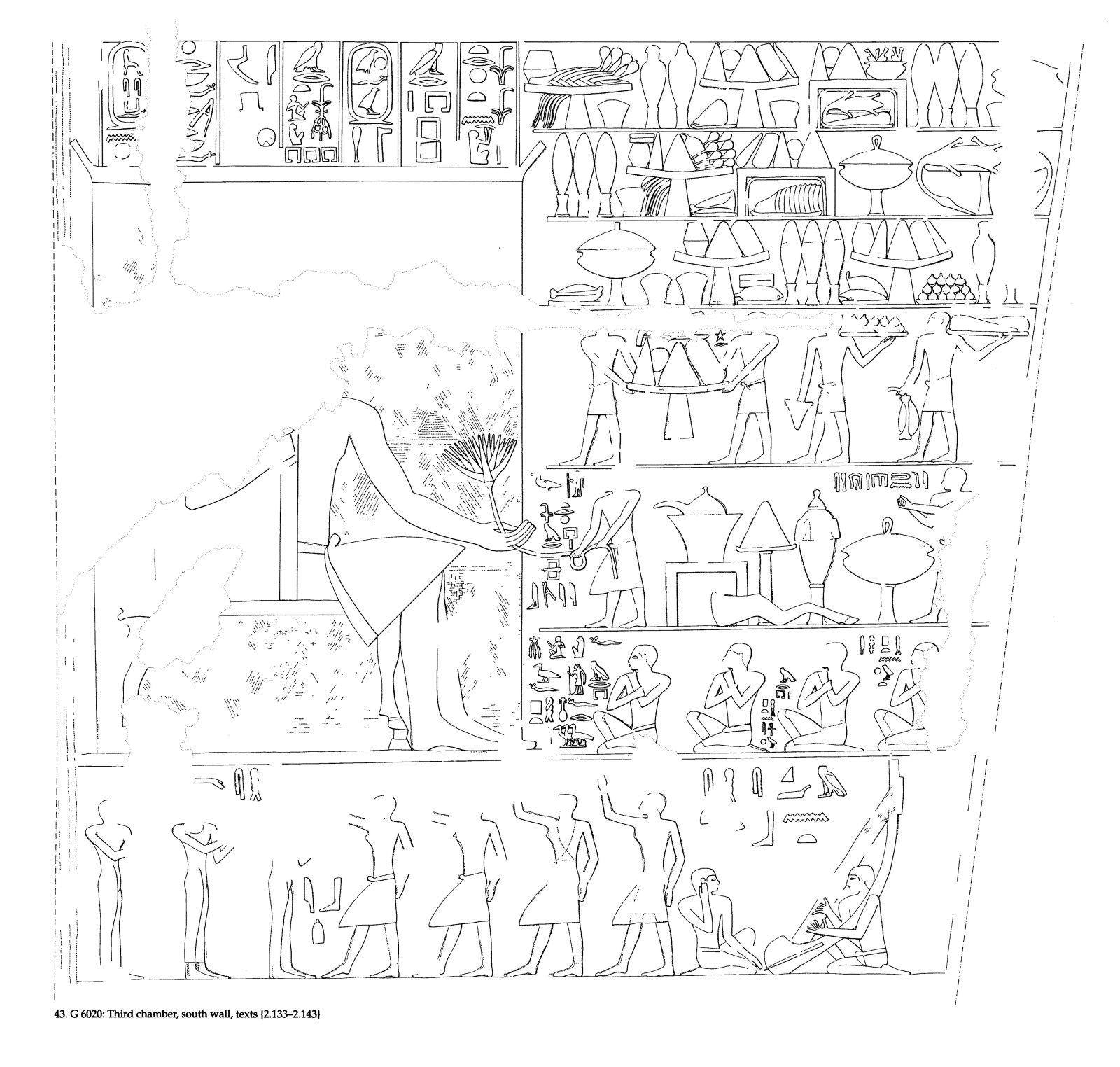 Drawings: G 6020: relief from third chamber, S wall