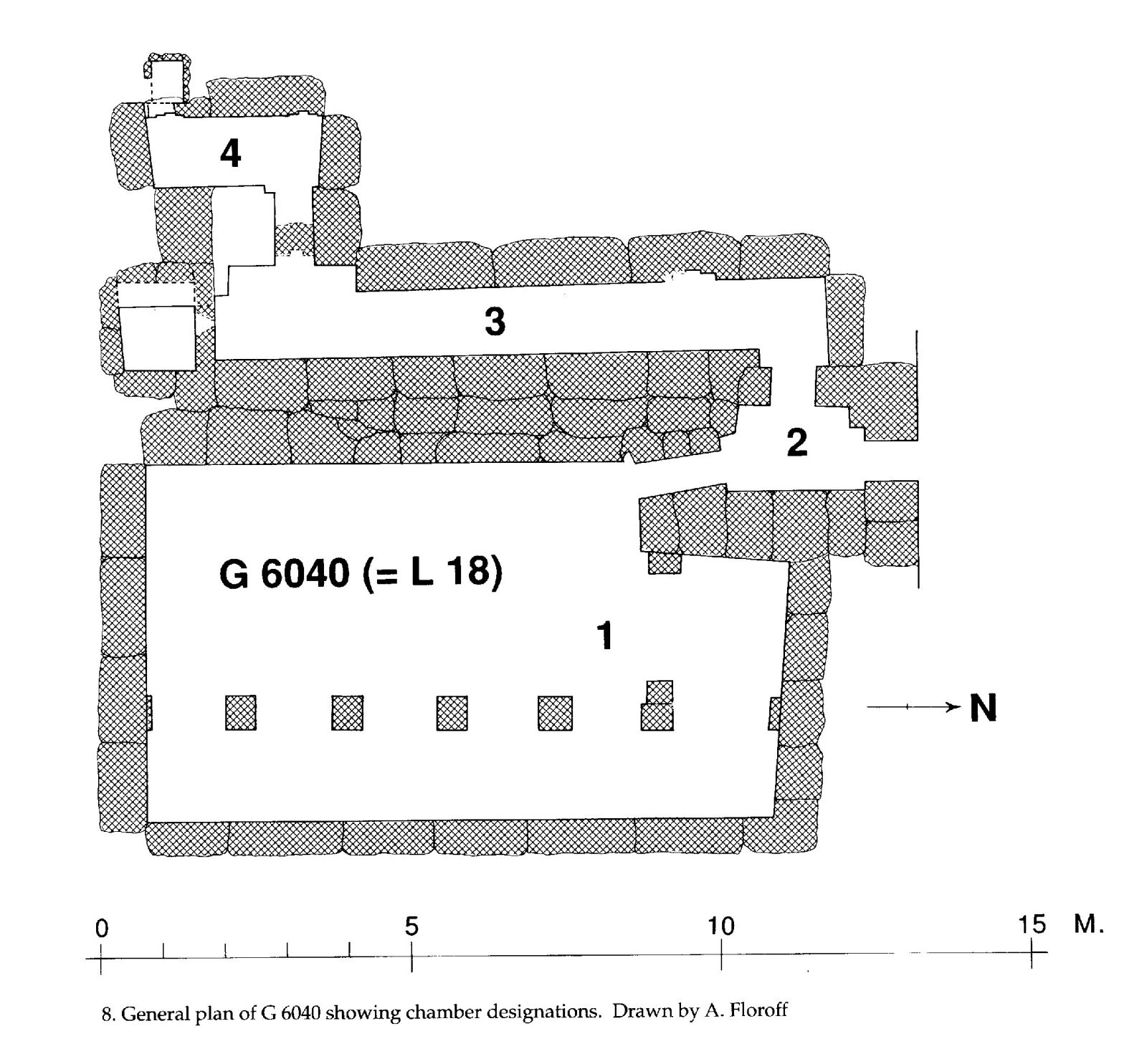 Maps and plans: G 6040, Plan, with chamber designations