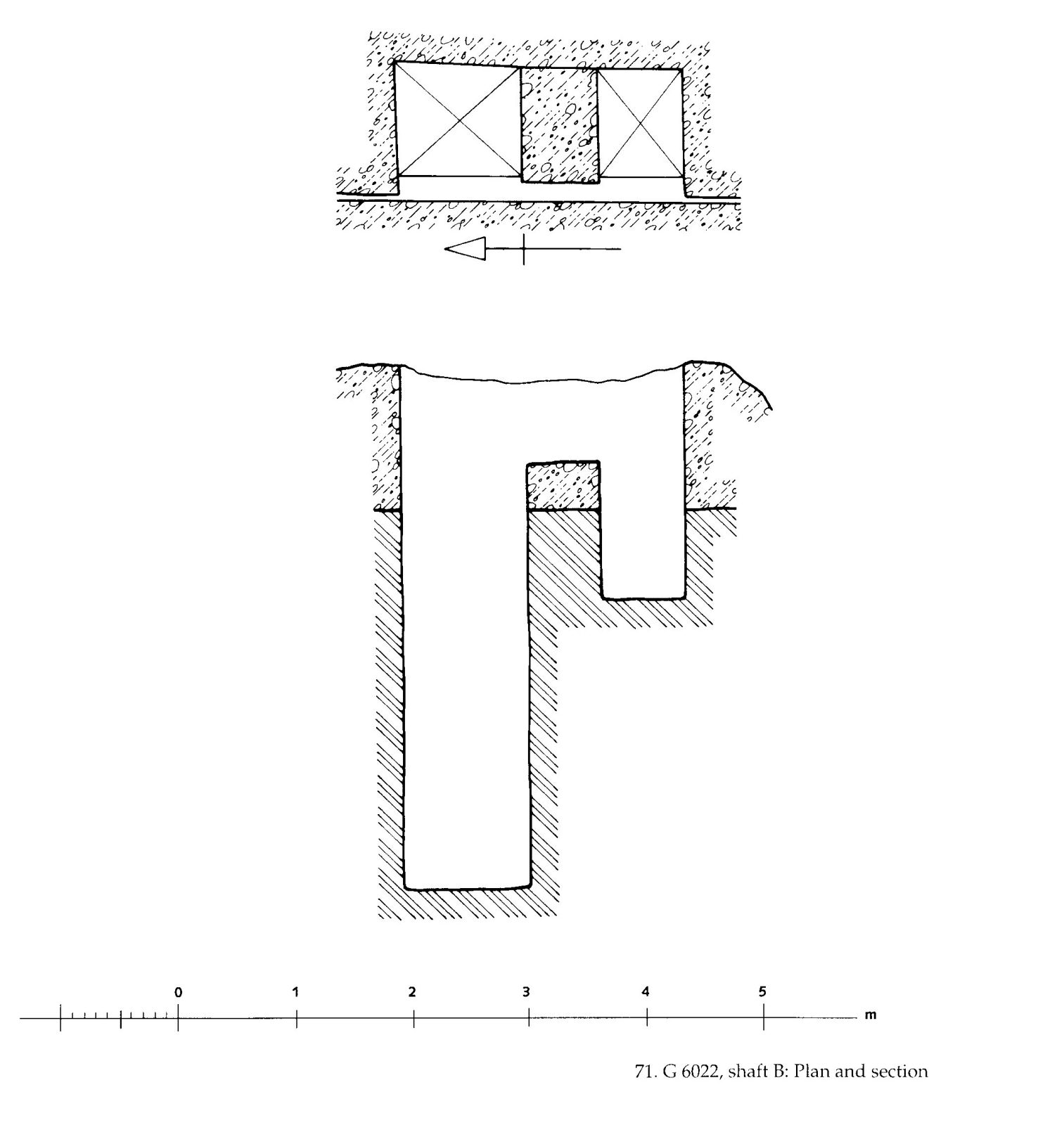 Maps and plans: G 6022, Shaft B