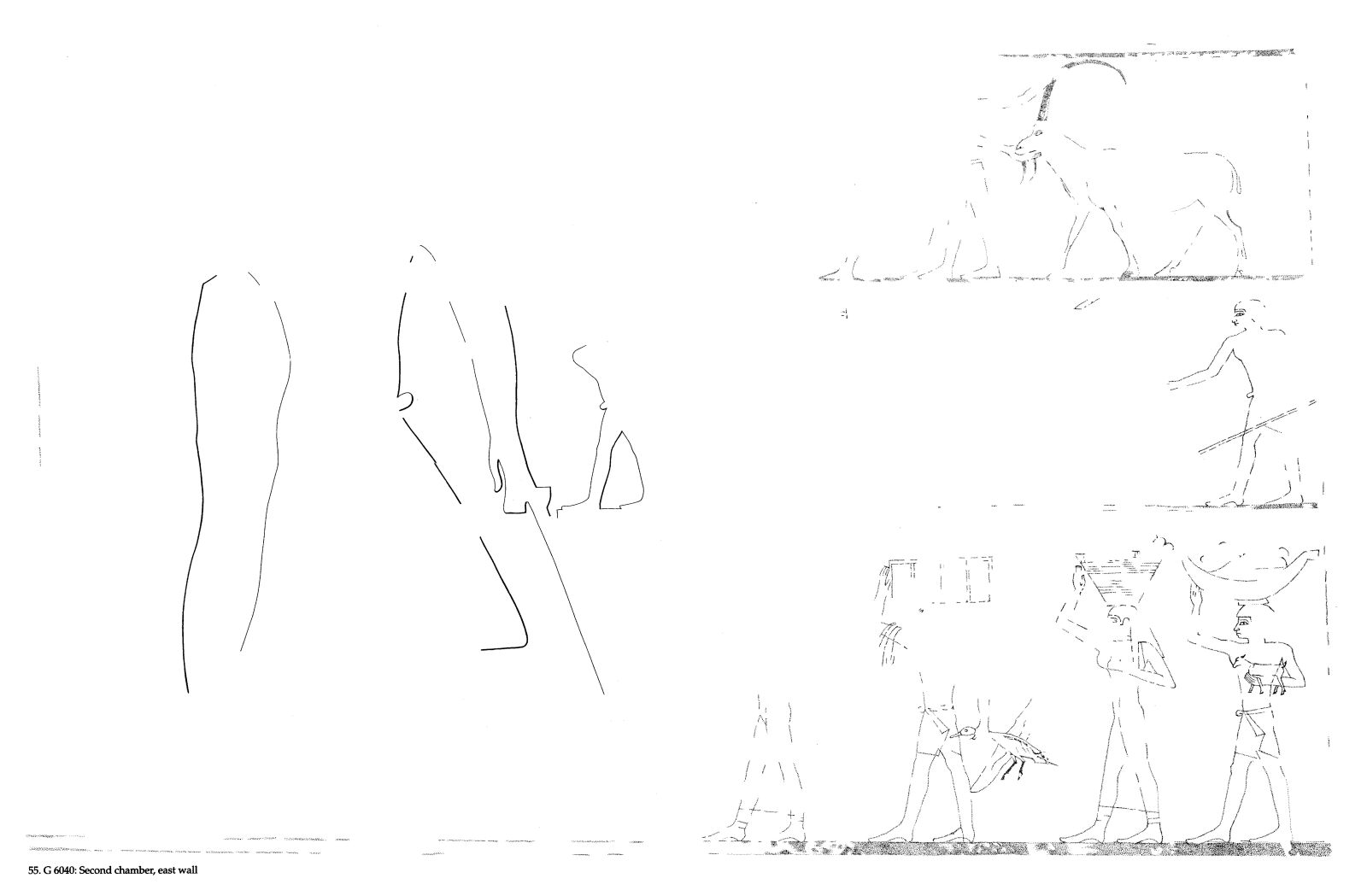 Drawings: G 6040: relief from second chamber, E wall